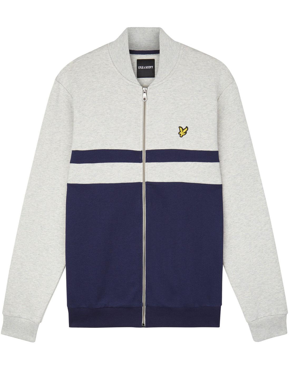LYLE & SCOTT Retro Yoke Stripe Bomber Track Top