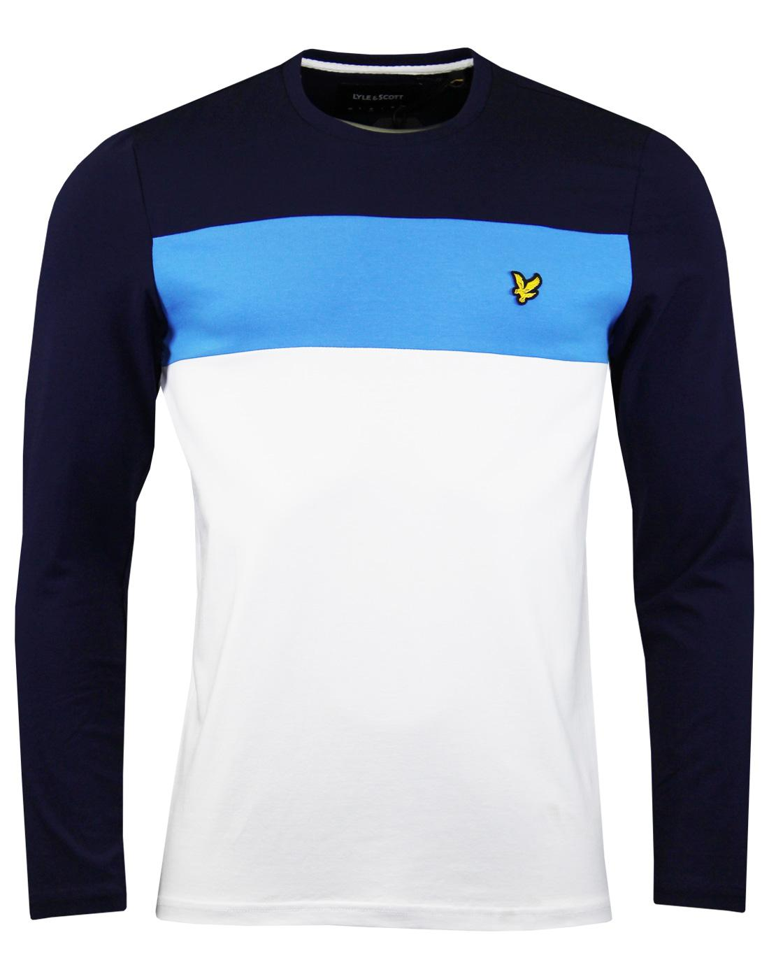 LYLE & SCOTT Retro 80s Colour Block LS T-shirt (W)