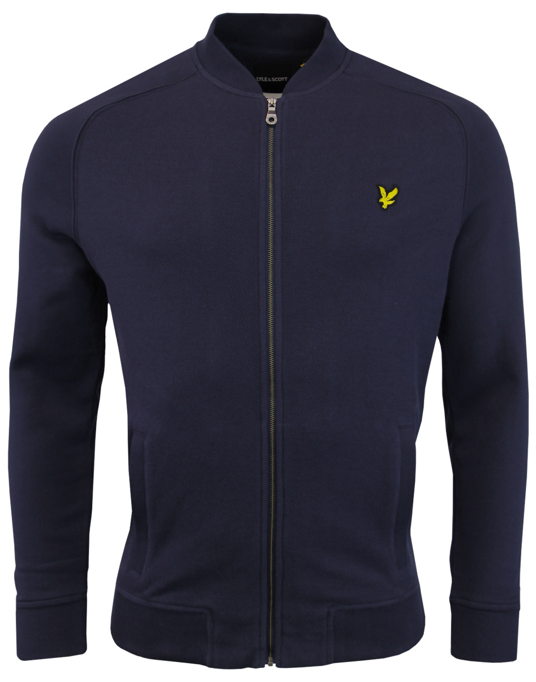 LYLE & SCOTT Retro Mod Honeycomb Bomber Track Top