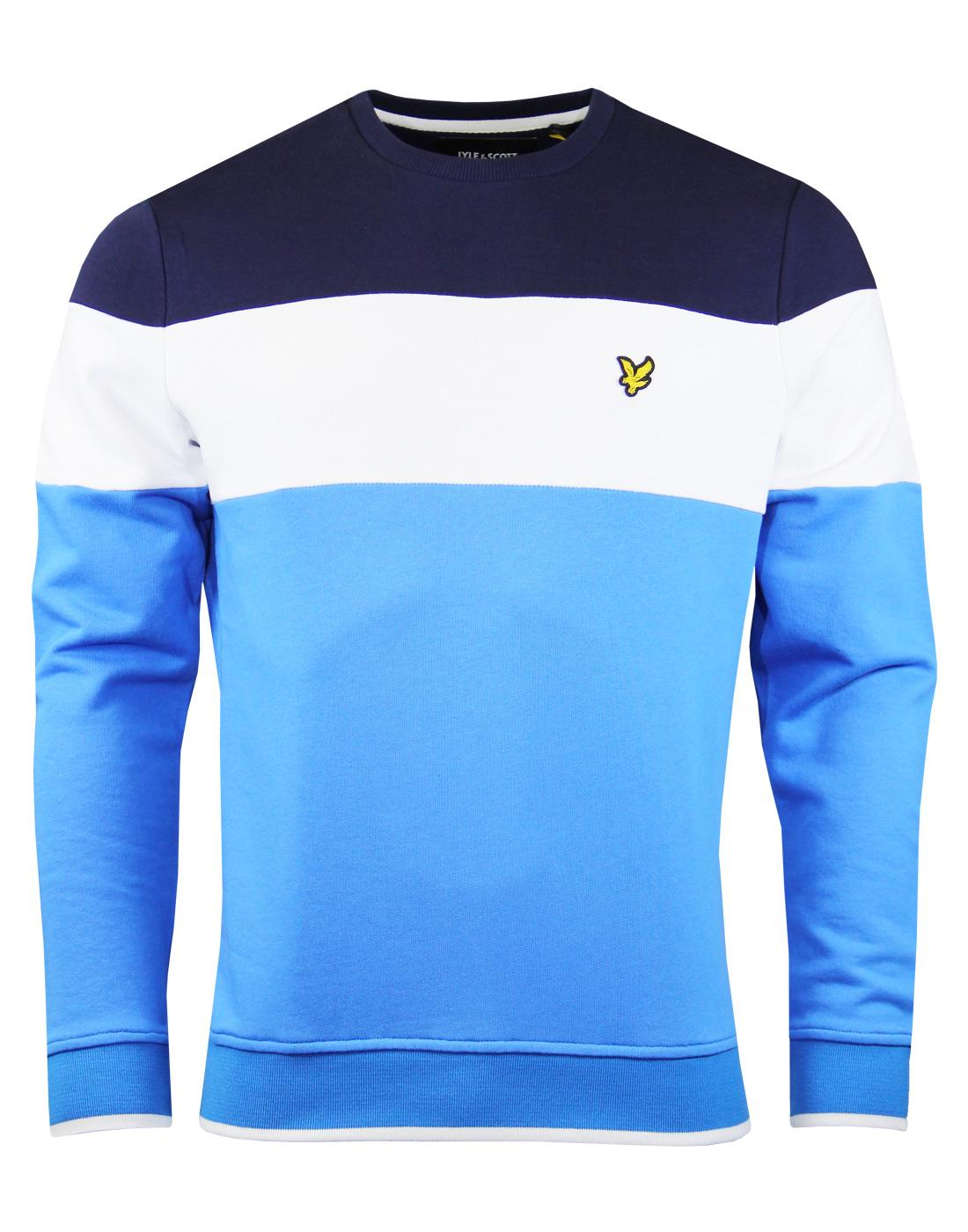 LYLE & SCOTT Retro 80s Colour Block Crew Jumper TB