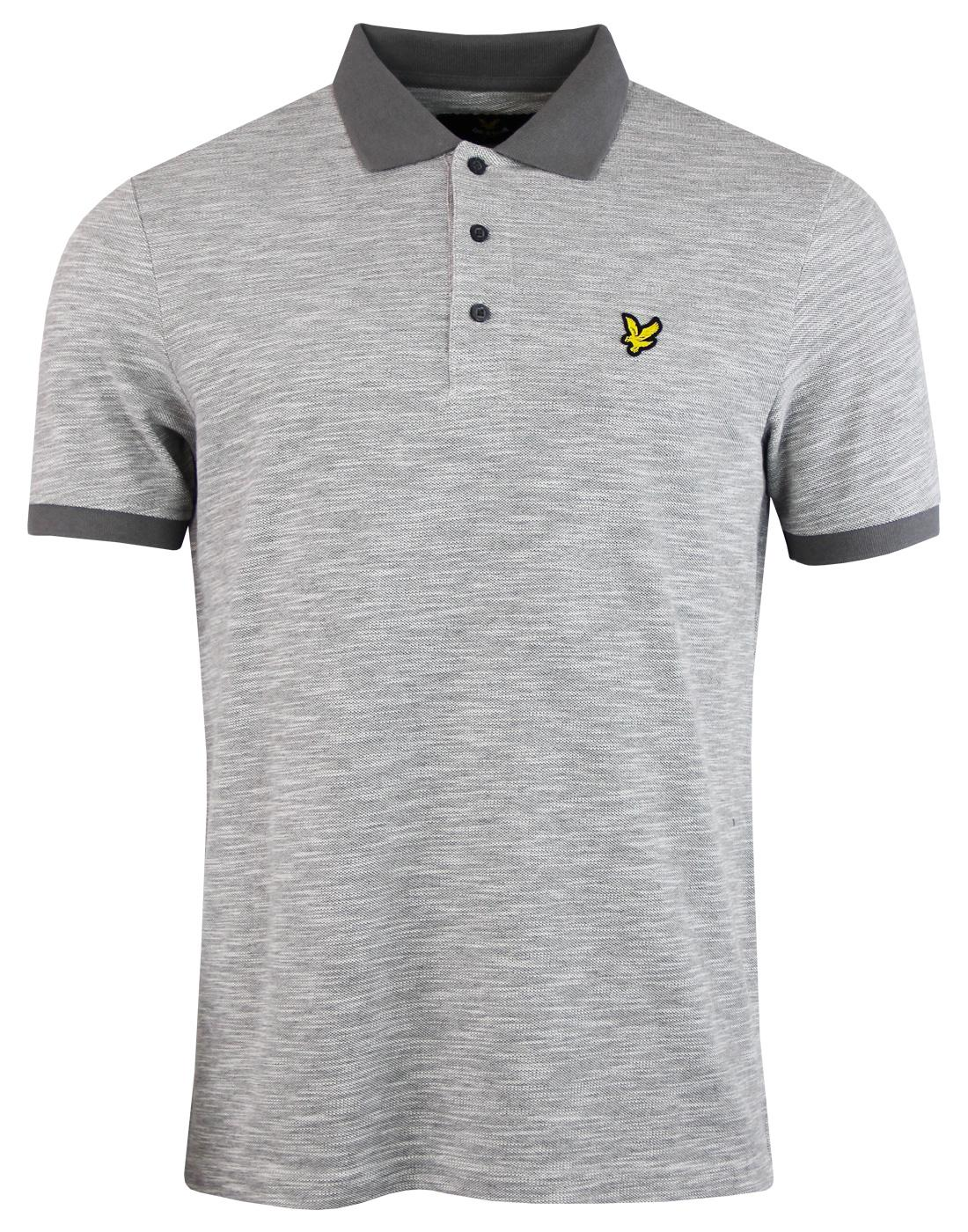 LYLE & SCOTT Retro Mod Oxford Slub Polo Shirt