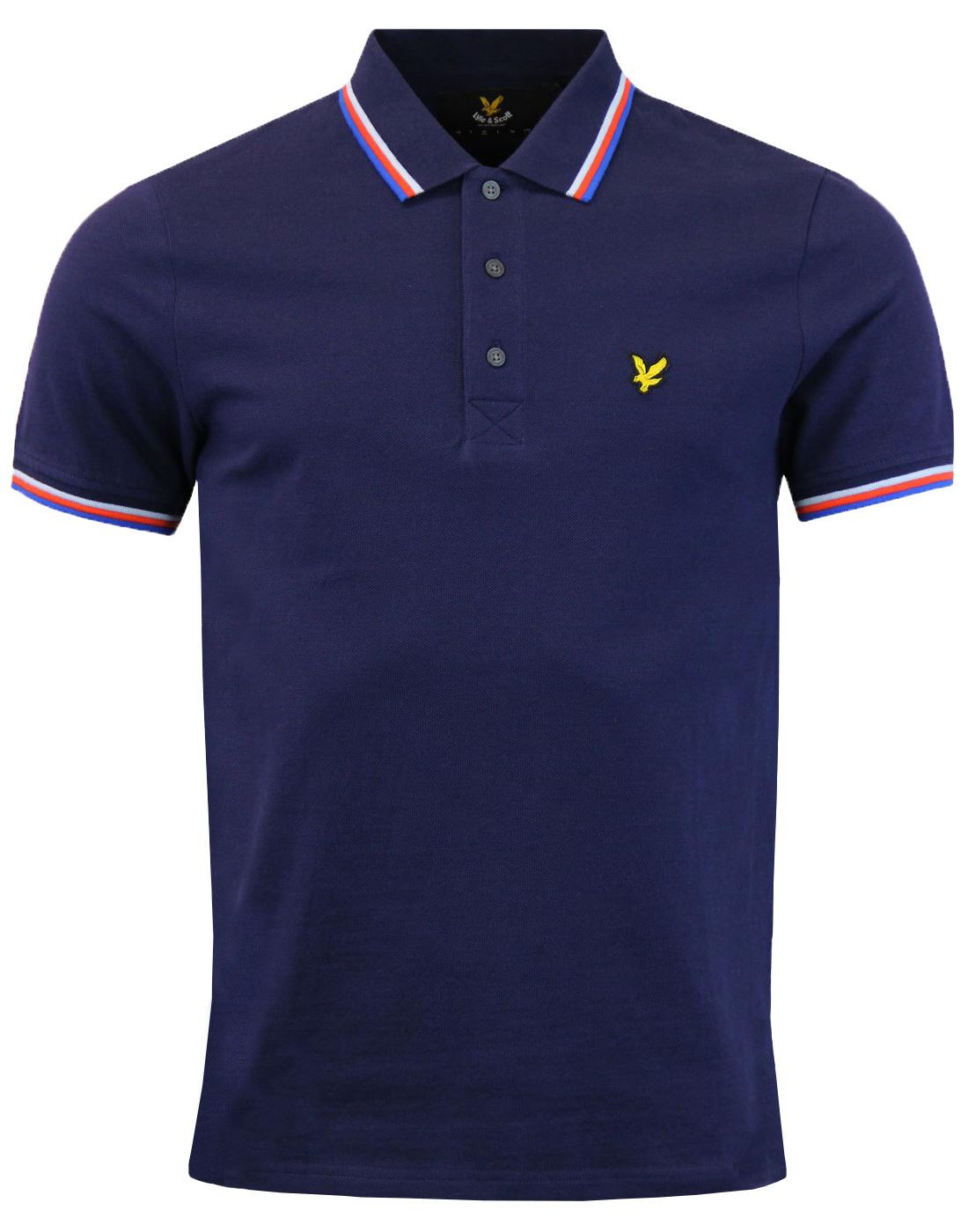 LYLE & SCOTT Retro Mod Tipped Pique Polo Shirt