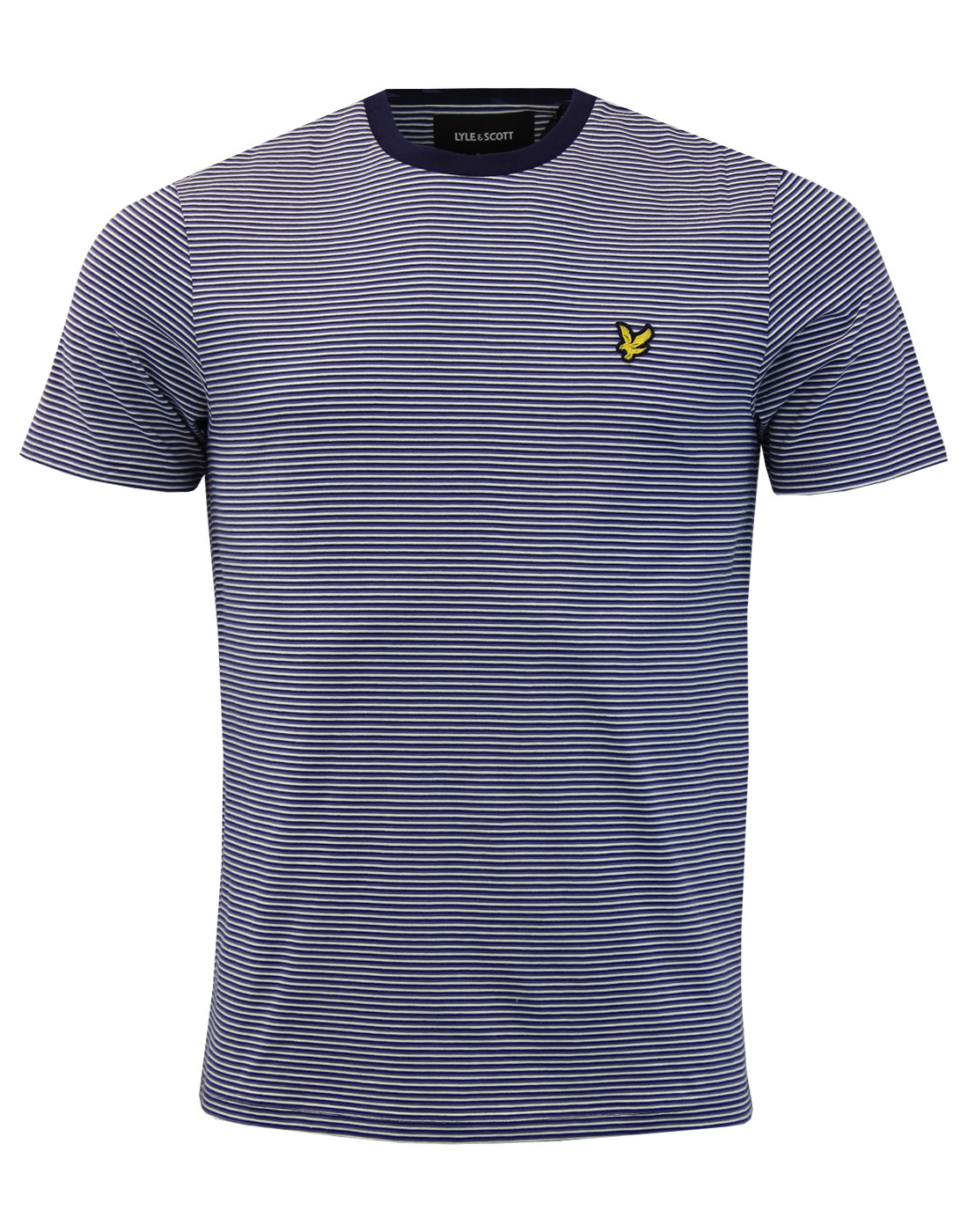 LYLE & SCOTT Retro Mod Feeder Stripe Tee (Navy)