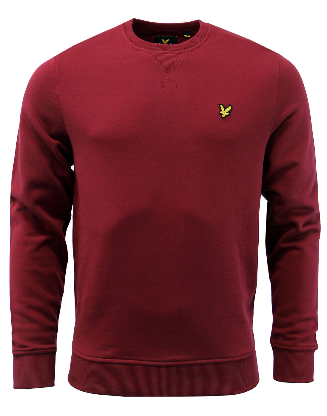 LYLE & SCOTT Retro Mod Crew Neck Sweatshirt CLARET
