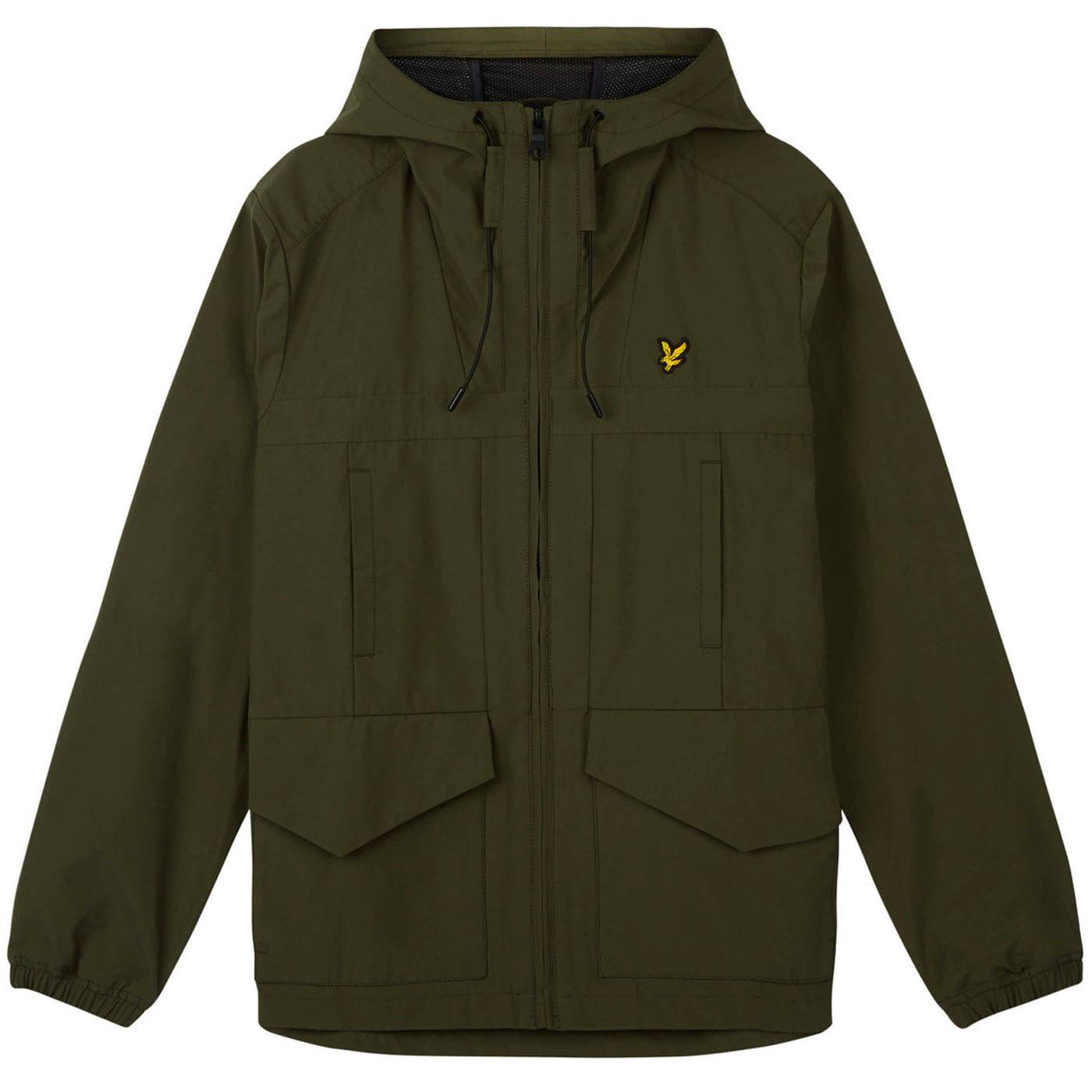 LYLE & SCOTT Tech Shell Hooded Terrace Jacket SAGE