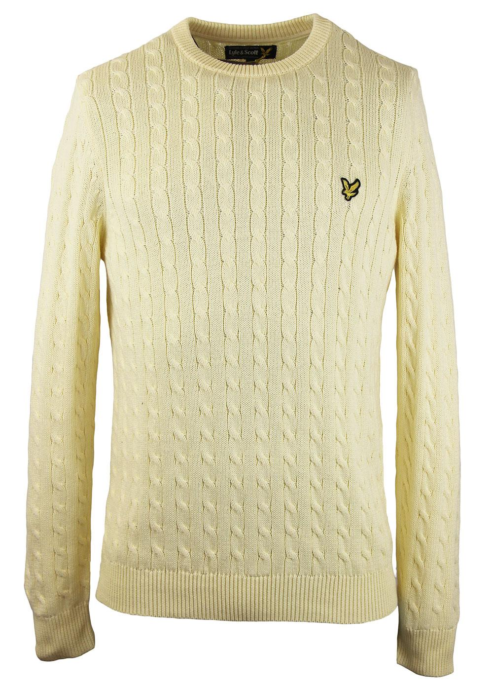 LYLE & SCOTT Classic Retro Mod Cable Knit Jumper