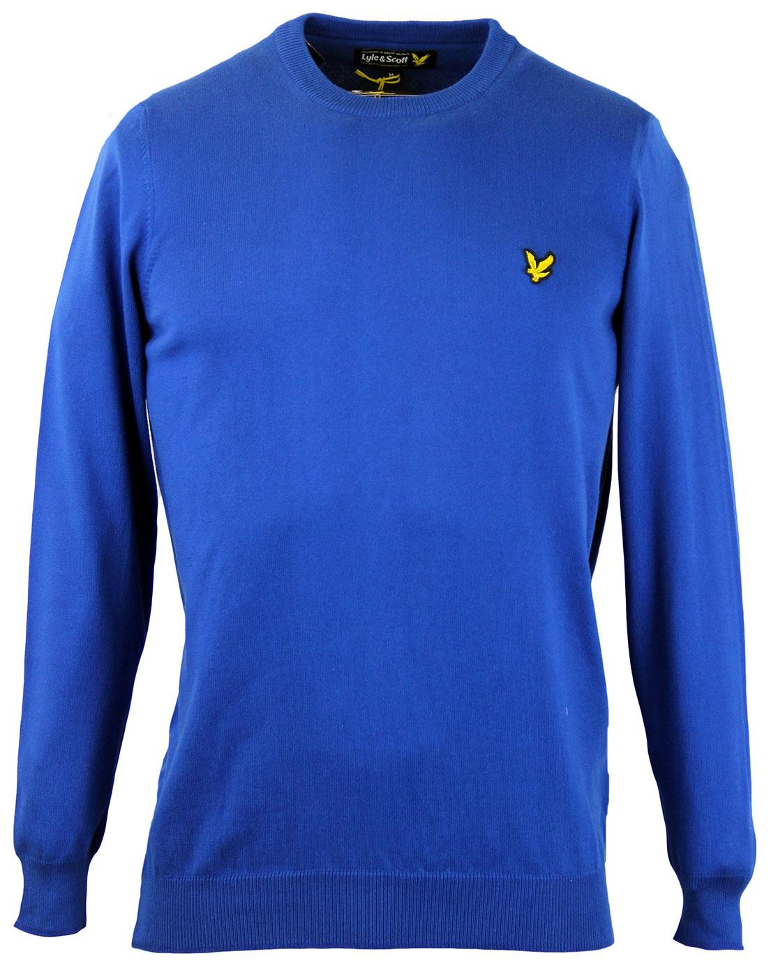 LYLE & SCOTT Retro Mod Cotton Crew Neck Jumper DB