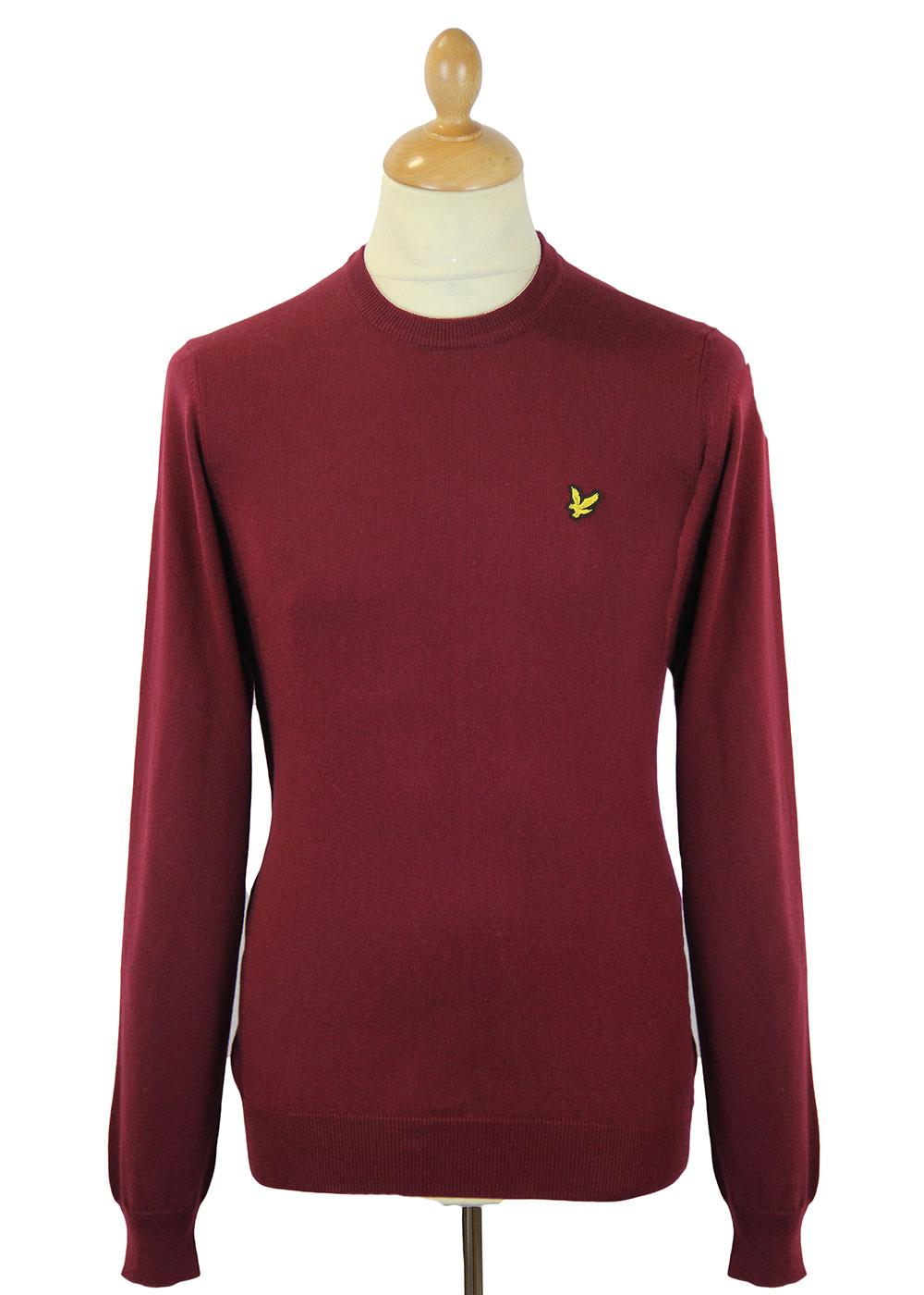LYLE & SCOTT Retro Mod Cotton Crew Neck Jumper (C)