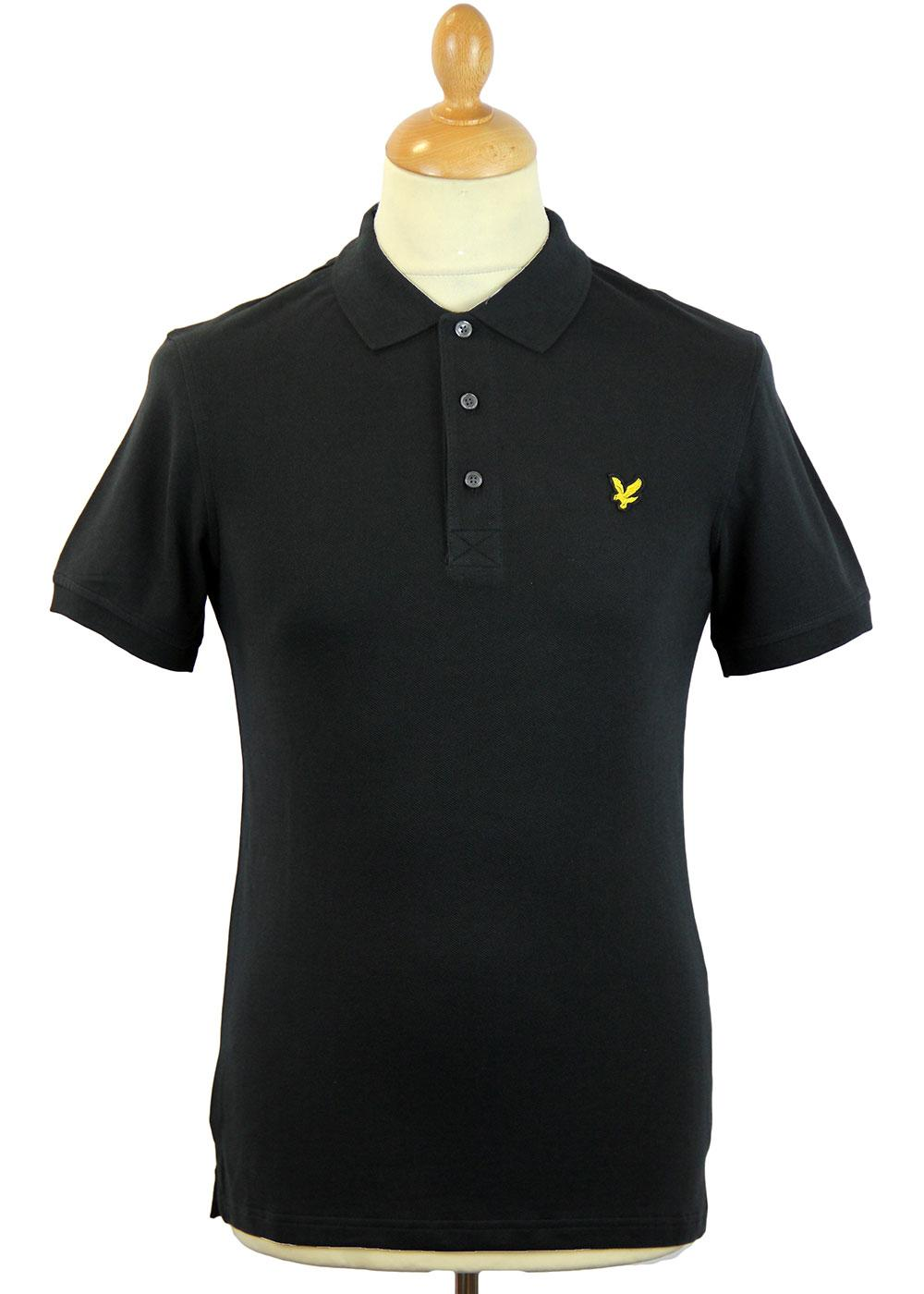 LYLE & SCOTT Retro Mod Plain Golden Eagle Polo (B)