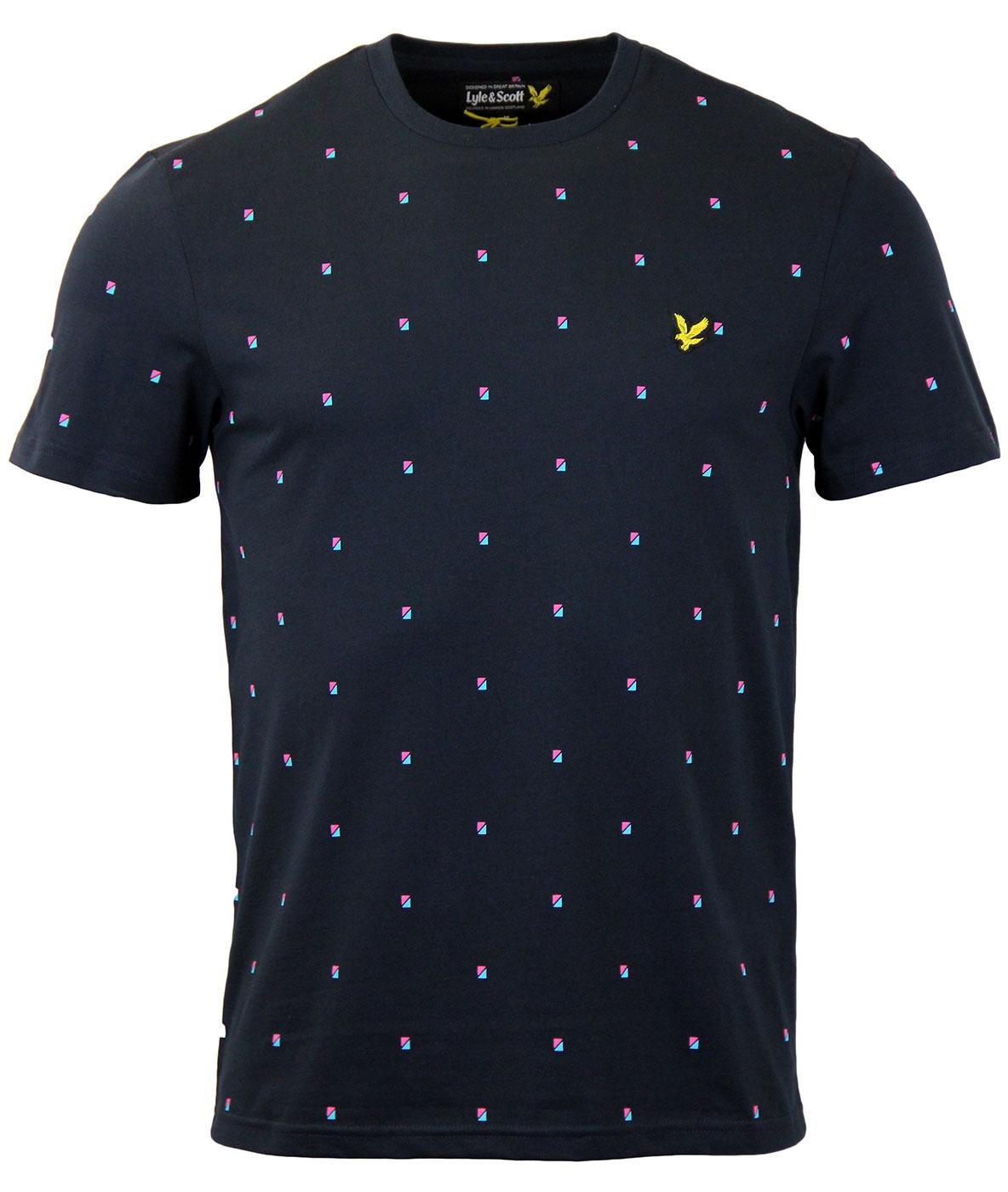LYLE & SCOTT Micro Split Square Stripe T-Shirt (N)