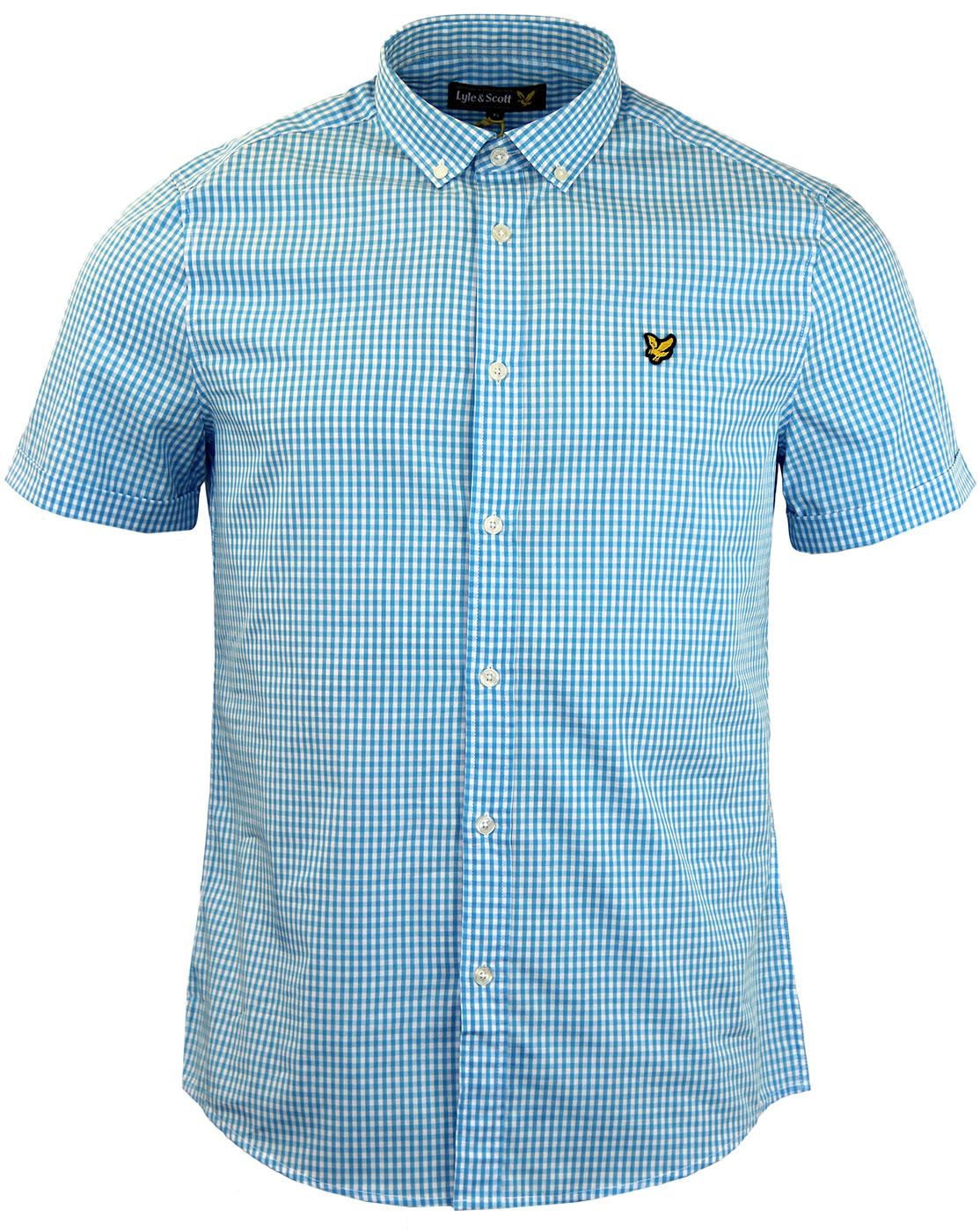 LYLE & SCOTT SS Gingham Check Button Down Shirt