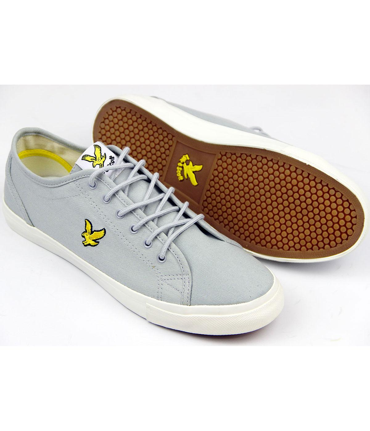 1b0b191a0231 LYLE   SCOTT Teviot Twill Retro Mod Cotton Canvas Trainers Grey