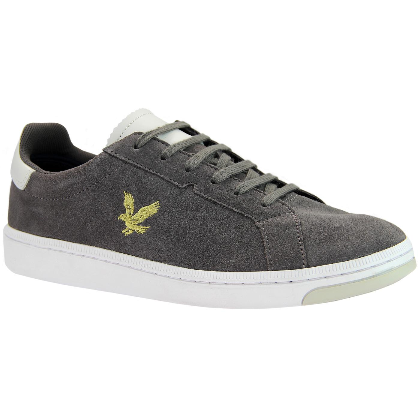 Burchill LYLE & SCOTT Mens Mod Suede Trainers Grey
