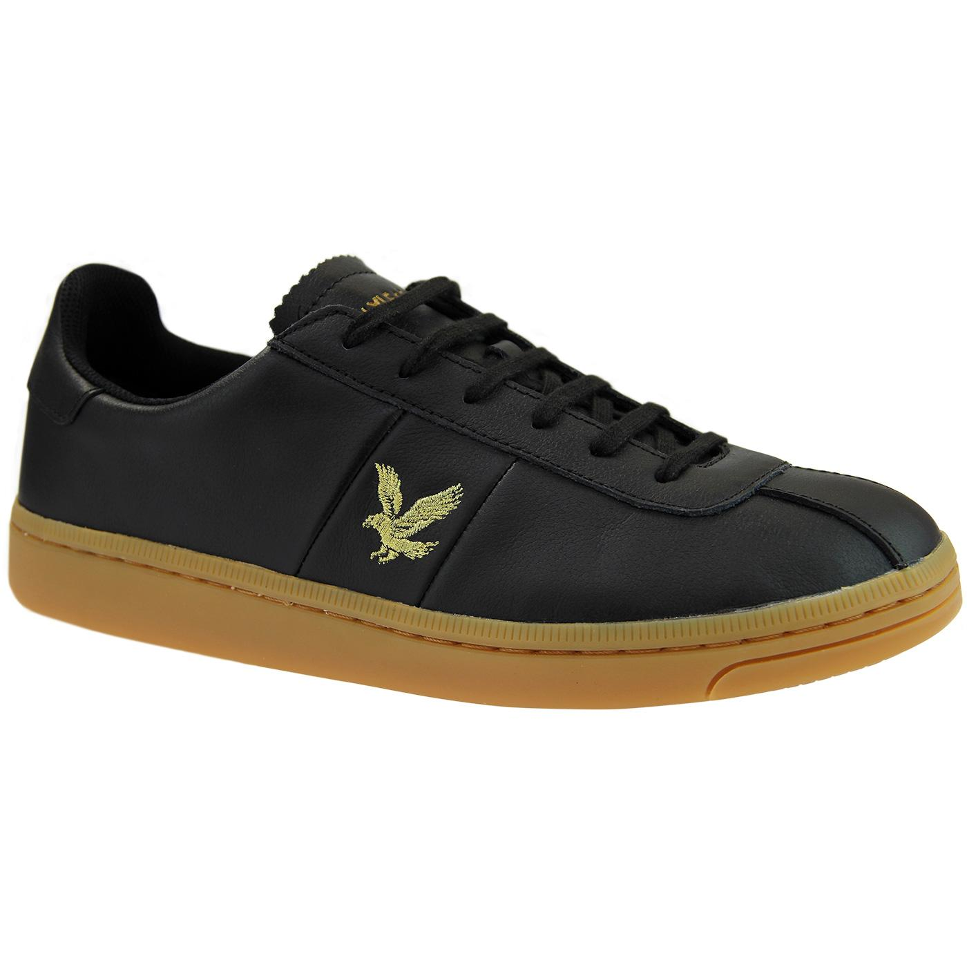 Campbell LYLE & SCOTT Men's Black Leather Trainers