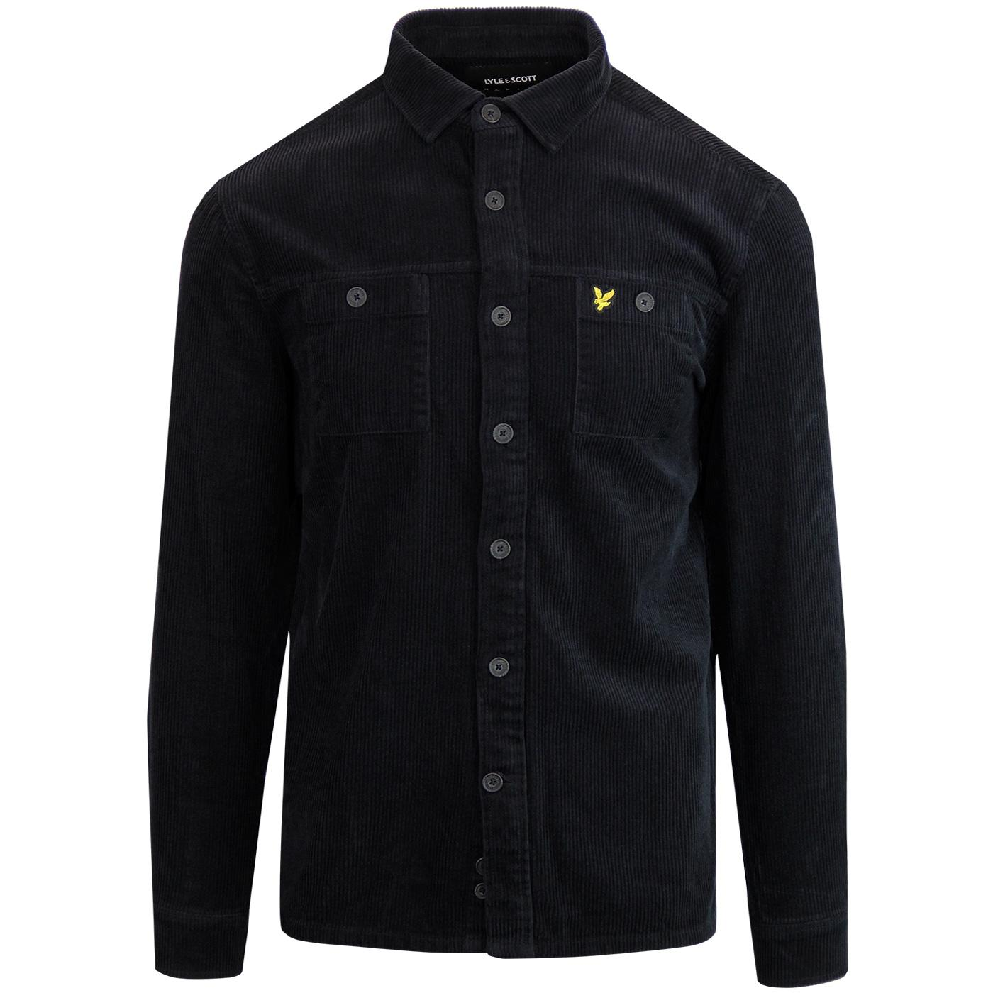 LYLE & SCOTT Men's Retro Jumbo Cord Overshirt (B)