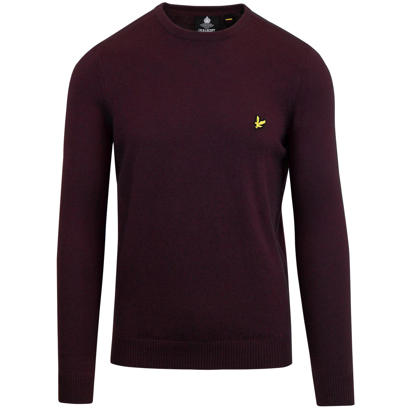 LYLE & SCOTT Merino Blend Crew Neck Jumper Plum