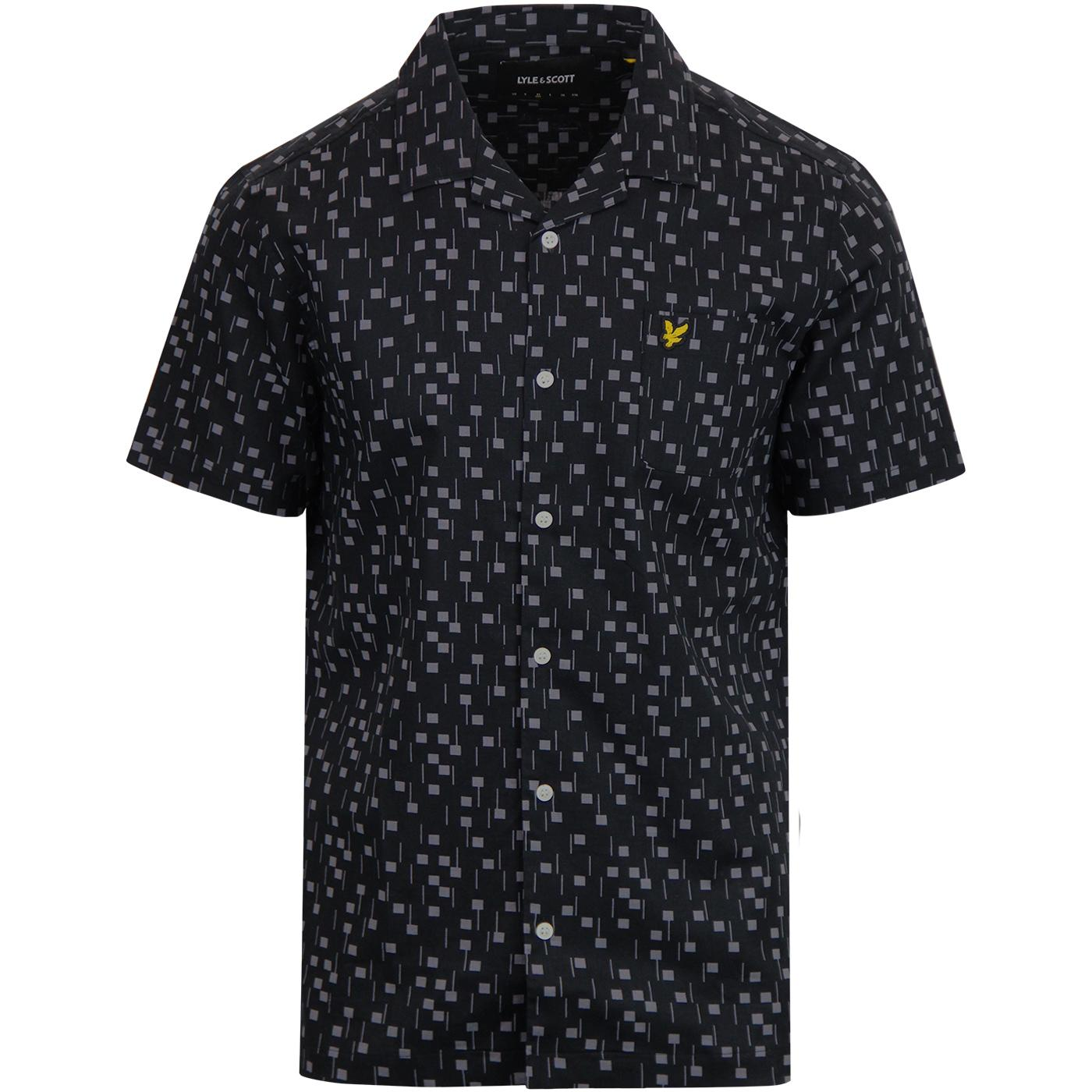 LYLE & SCOTT Retro 70s Tile Print Resort Shirt