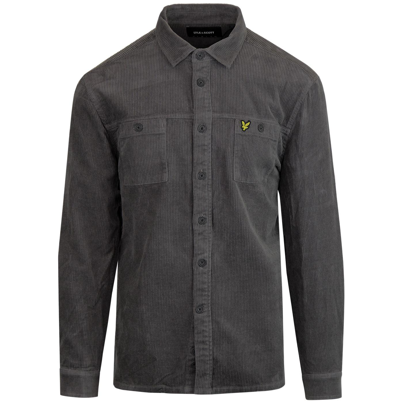 LYLE & SCOTT Retro Mod Jumbo Cord Overshirt (Grey)