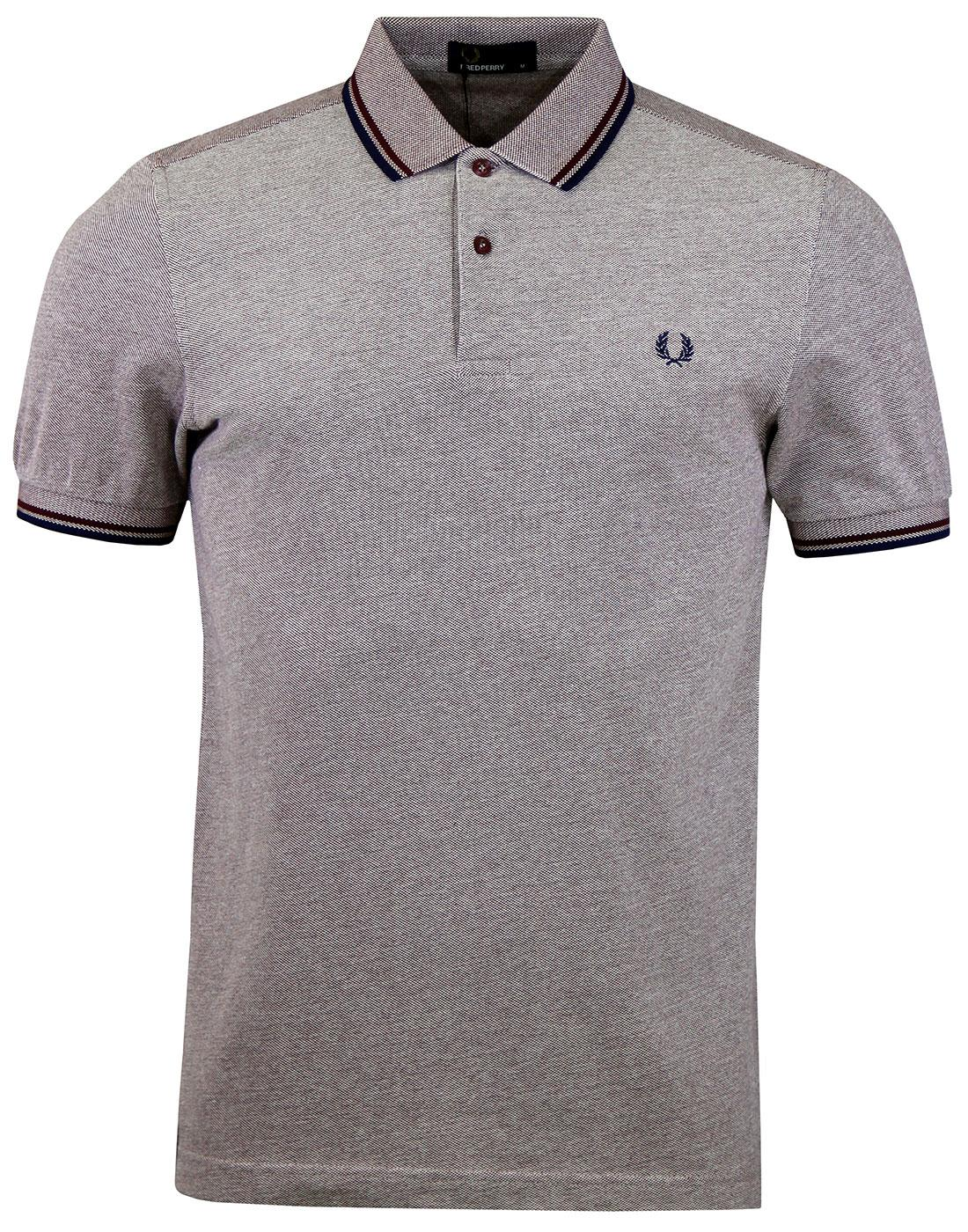 FRED PERRY M3600 Mod Twin Tipped Polo Shirt M/O