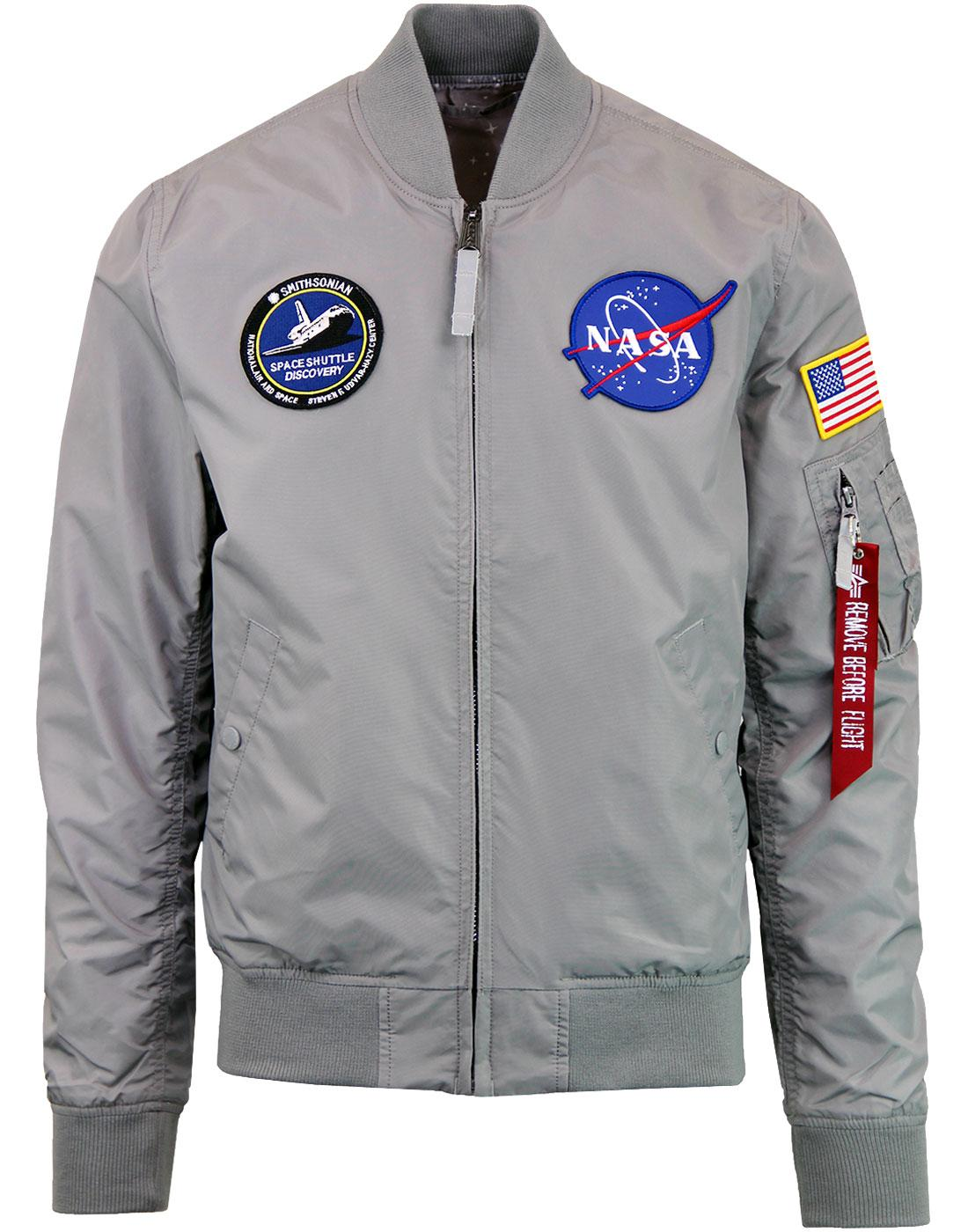 ALPHA INDUSTRIES MA-1 TT NASA Bomber Jacket in Silver ef286fe4fb