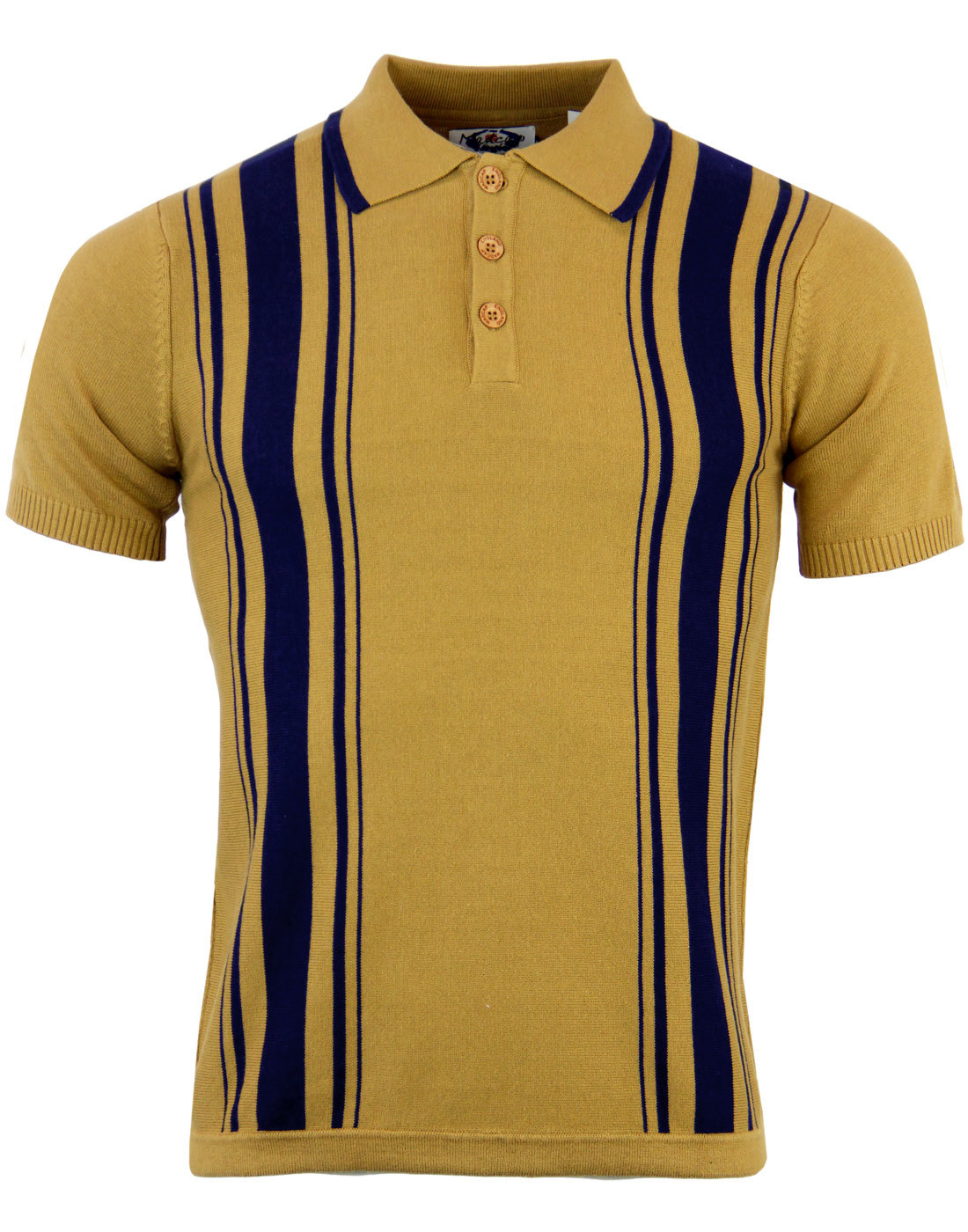 MADCAP ENGLAND RETRO MOD 60s STRIPED POLO