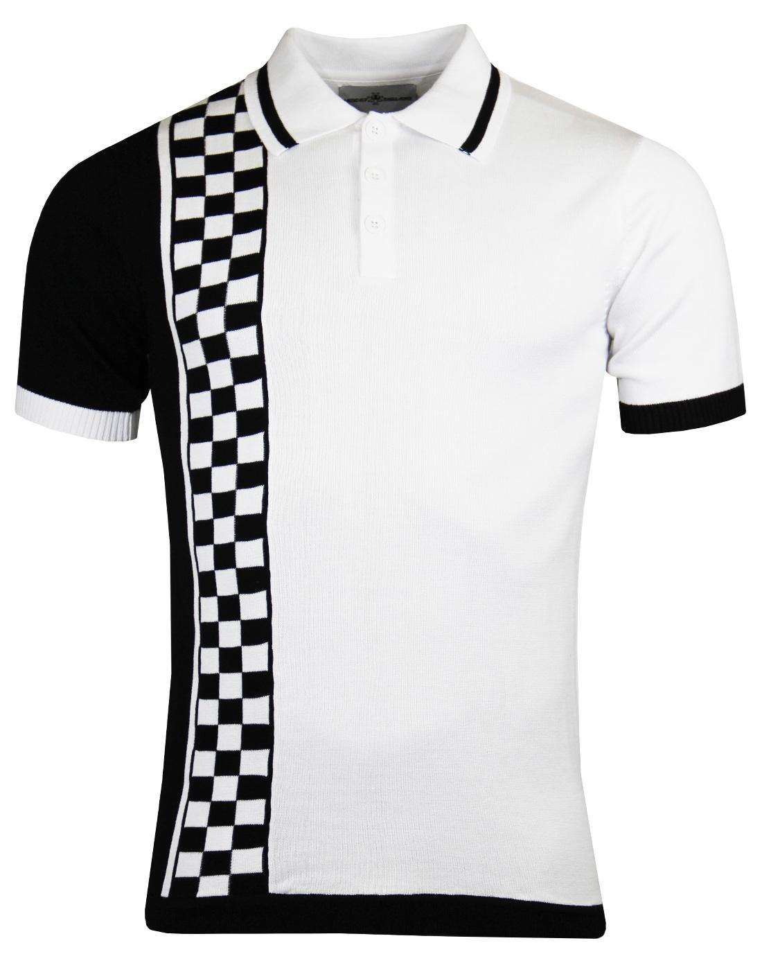 Madcap England Maytal Mens Retro Mod 70s Ska Checkerboard