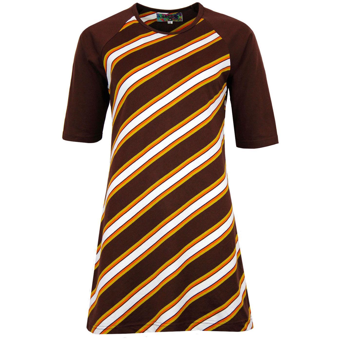 madcap england cilla retro 1960s mod stripe dress