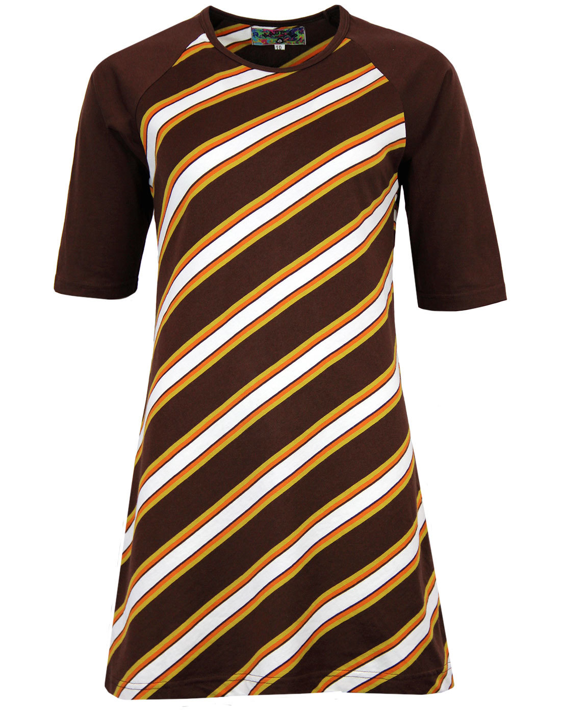 madcap england cilla retro 1960s mod stripe dress