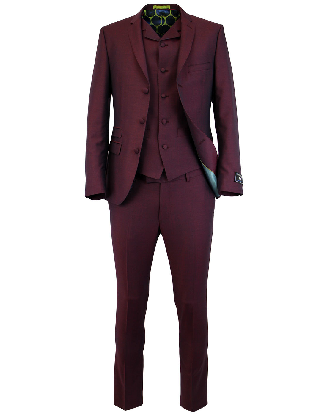MADCAP ENGLAND Mod Mohair Tonic Suit in Burgundy