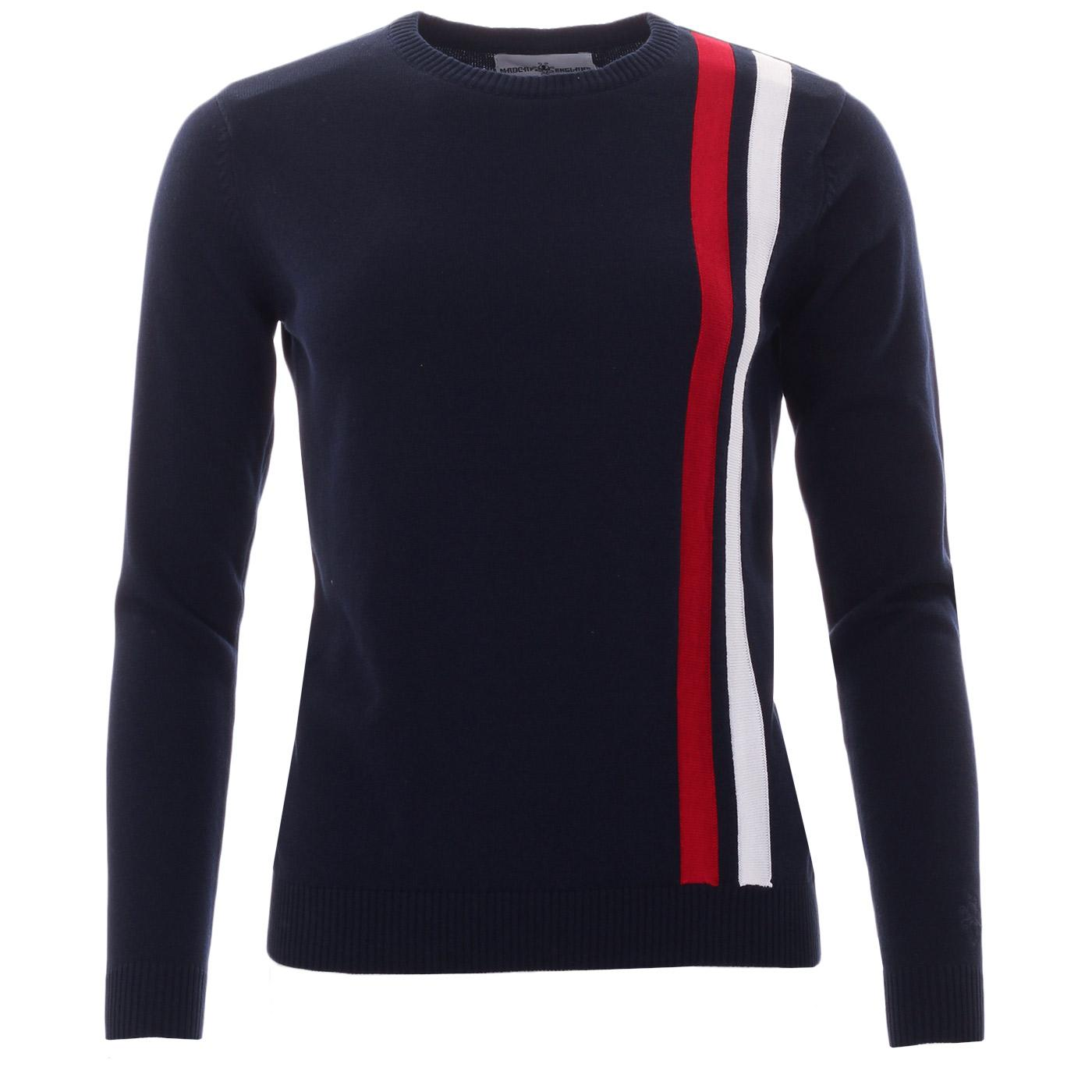 Madcap England Action Women's Mod Racing Jumper in Navy