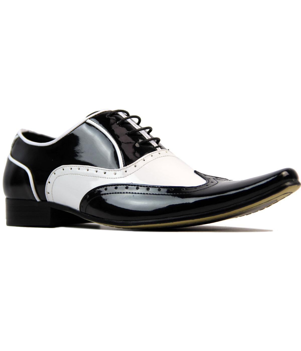 Aijaz MADCAP Retro Mod Patent Spatz Brogue Shoes