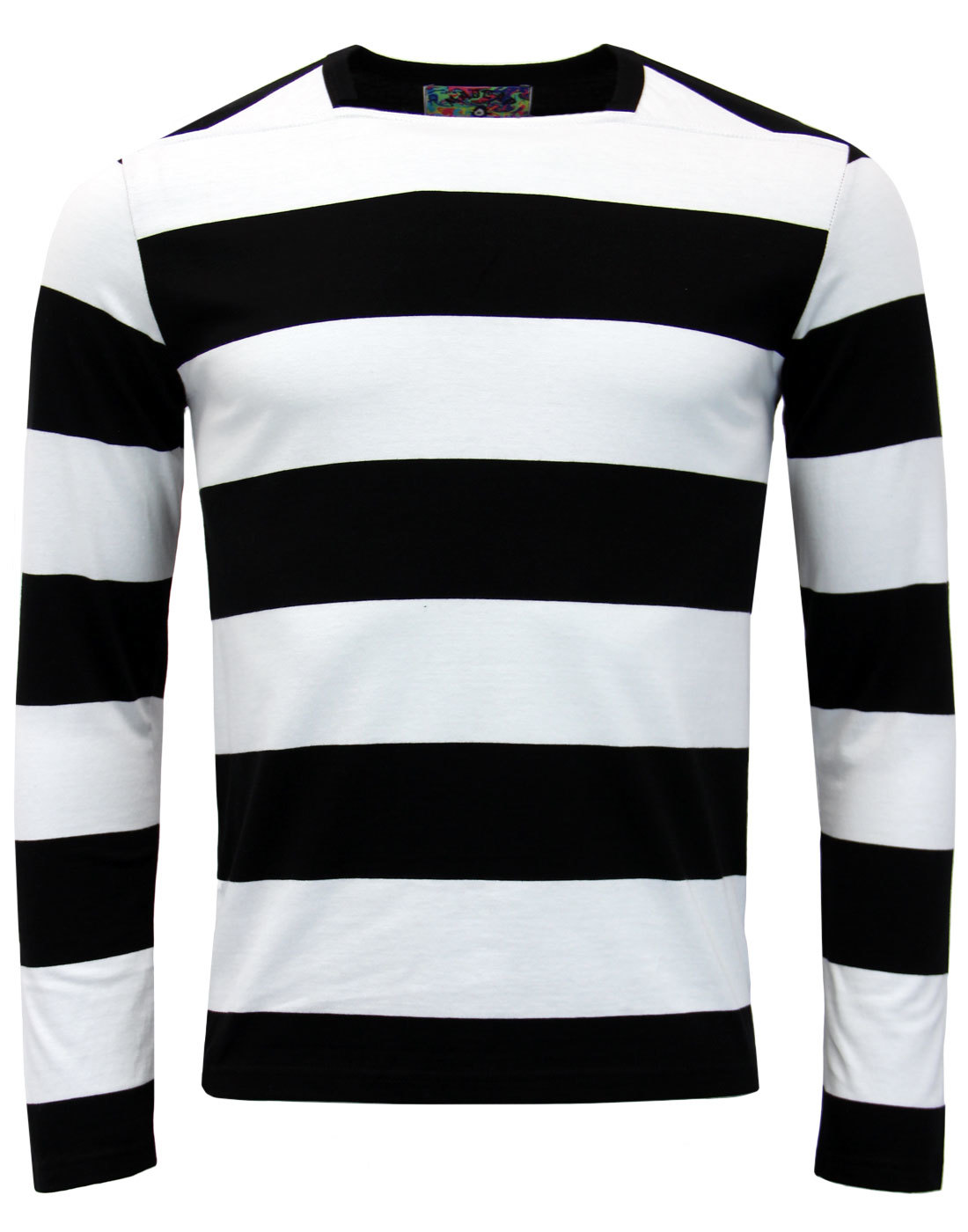 1c96868cb9b22 Ally Pally - Mens Retro 60s Mod Brian Jones Style Straight Neck T-Shirt