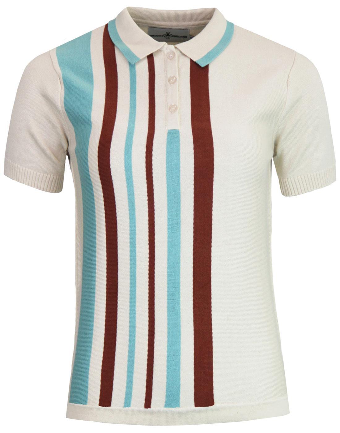 Bauhaus Belle MADCAP ENGLAND Mod Stripe Knit Polo