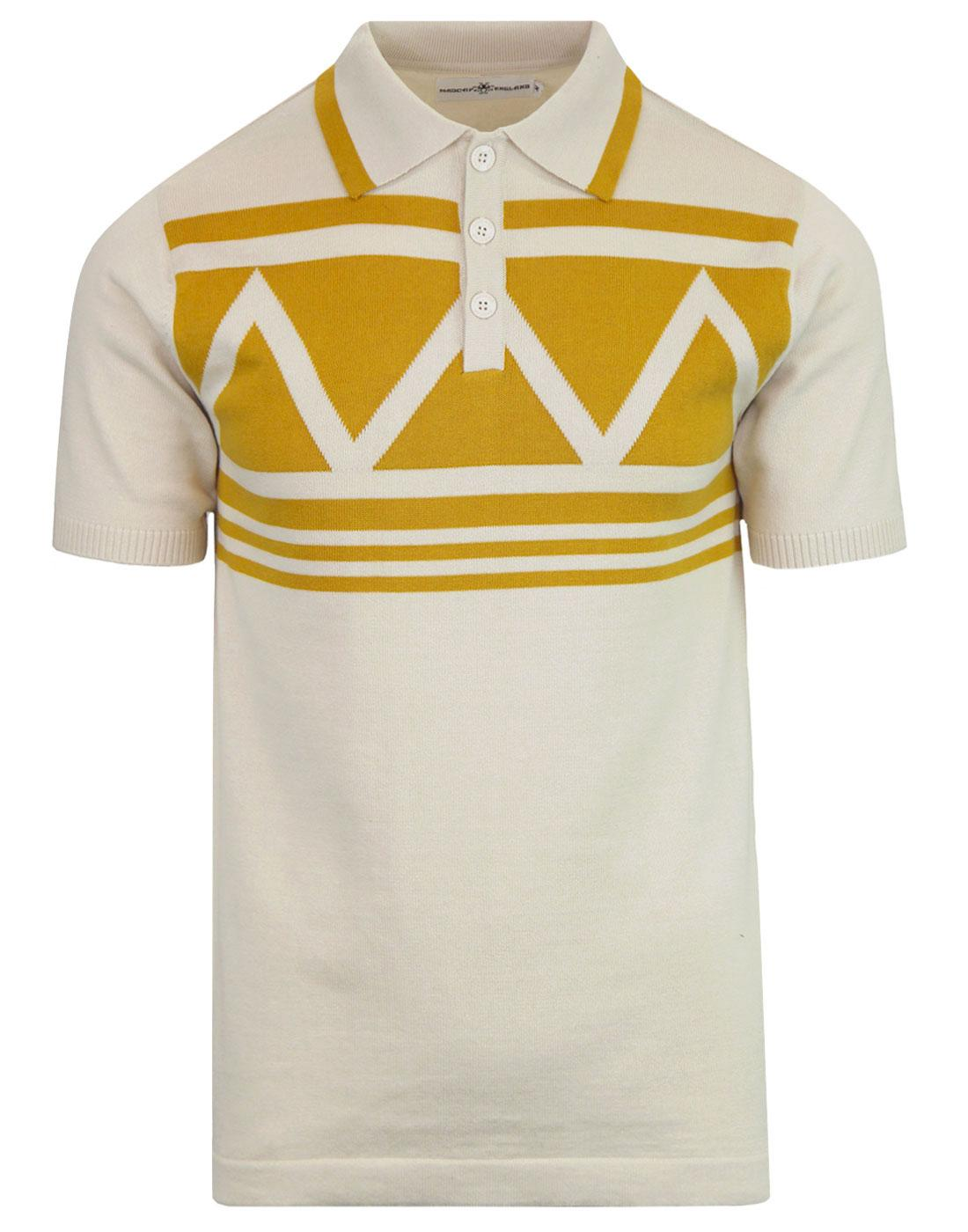 Setting Sun MADCAP ENGLAND Mod Aztec Knit Polo Top