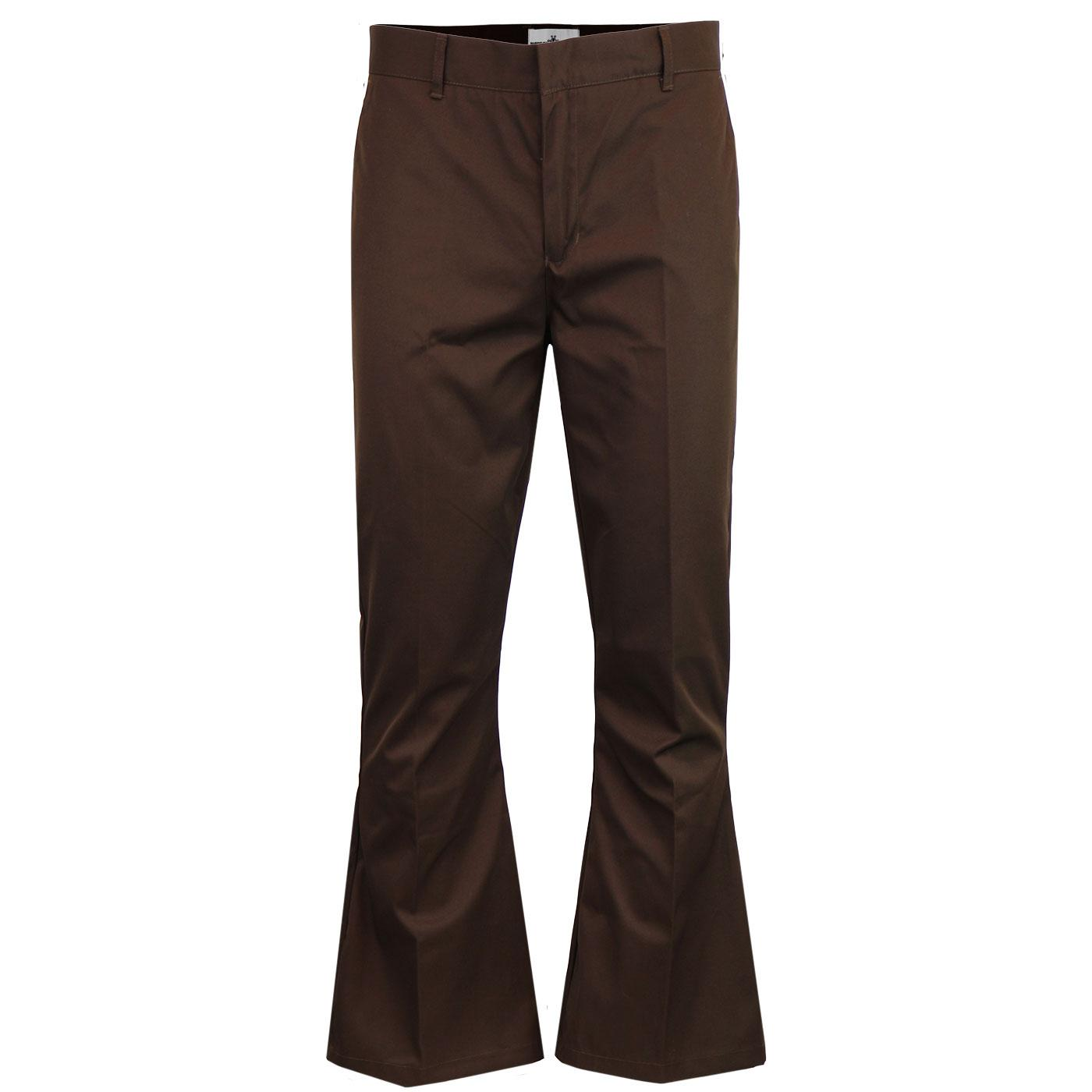 Bolan MADCAP ENGLAND Smart Bellbottom Flares BROWN