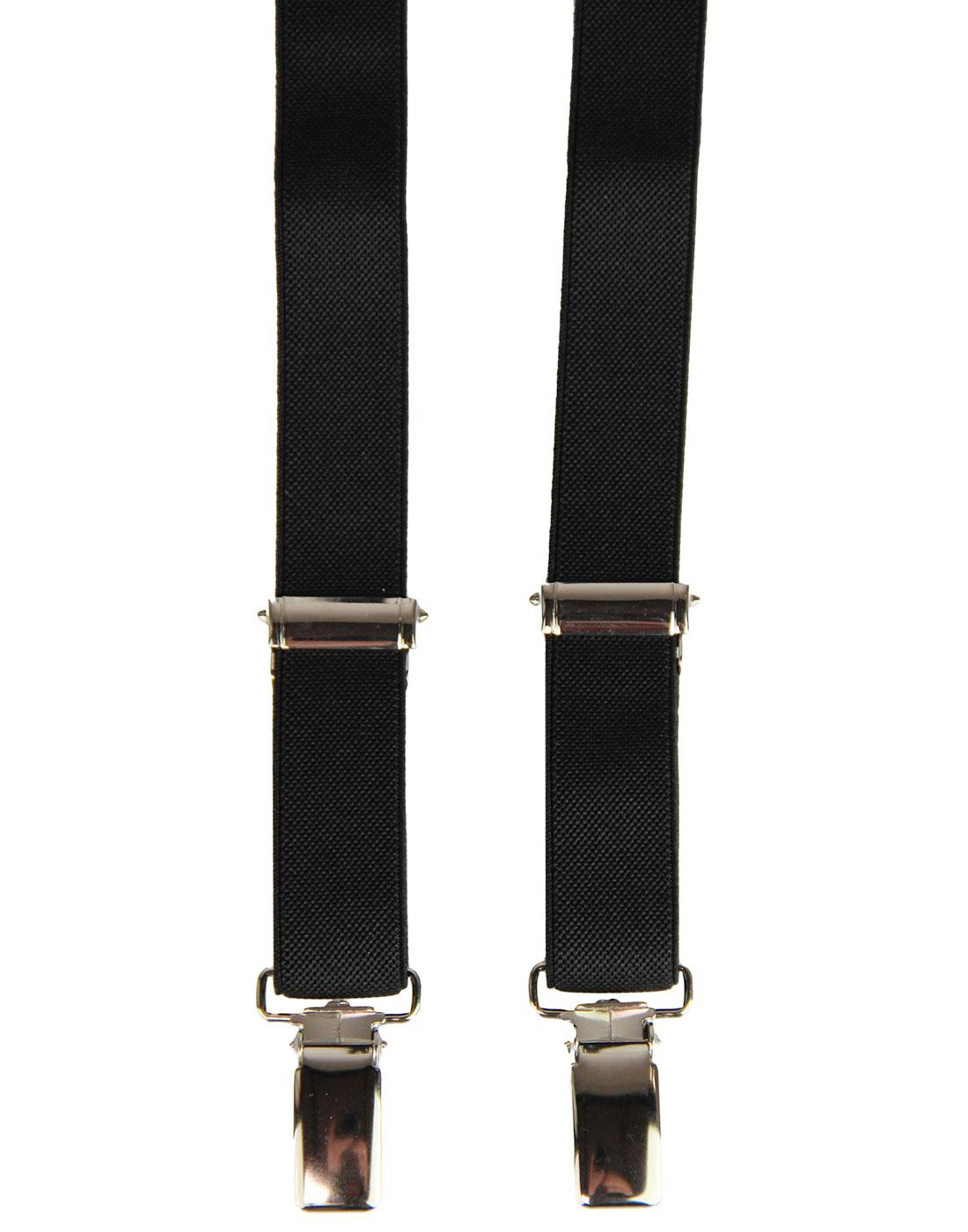 MADCAP ENGLAND Made in Britain Narrow Braces BLACK
