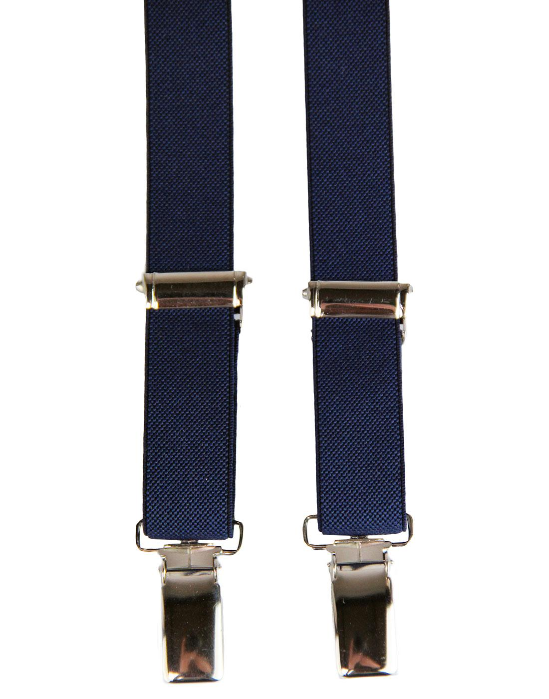 MADCAP ENGLAND Made in Britain Narrow Braces NAVY