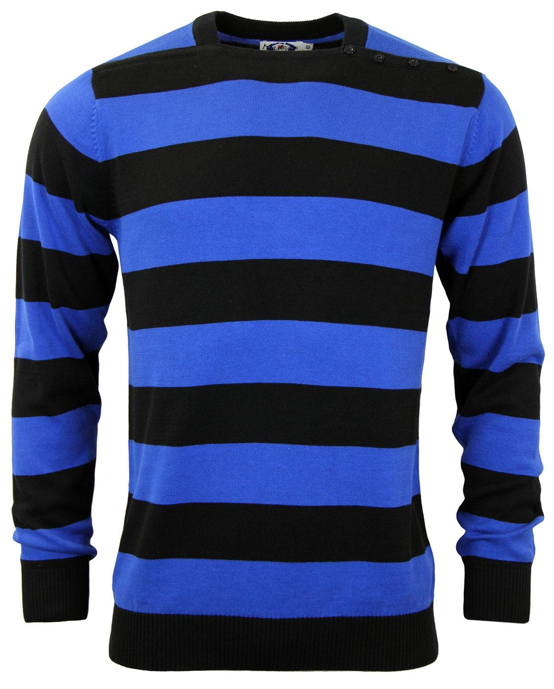 Jones MADCAP ENGLAND Mod Block Stripe Jumper ROYAL