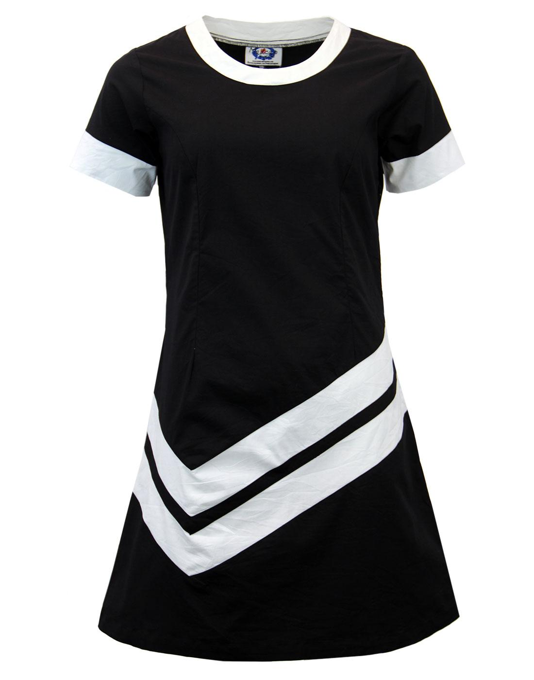 S Mod Fashion Black And White Dress