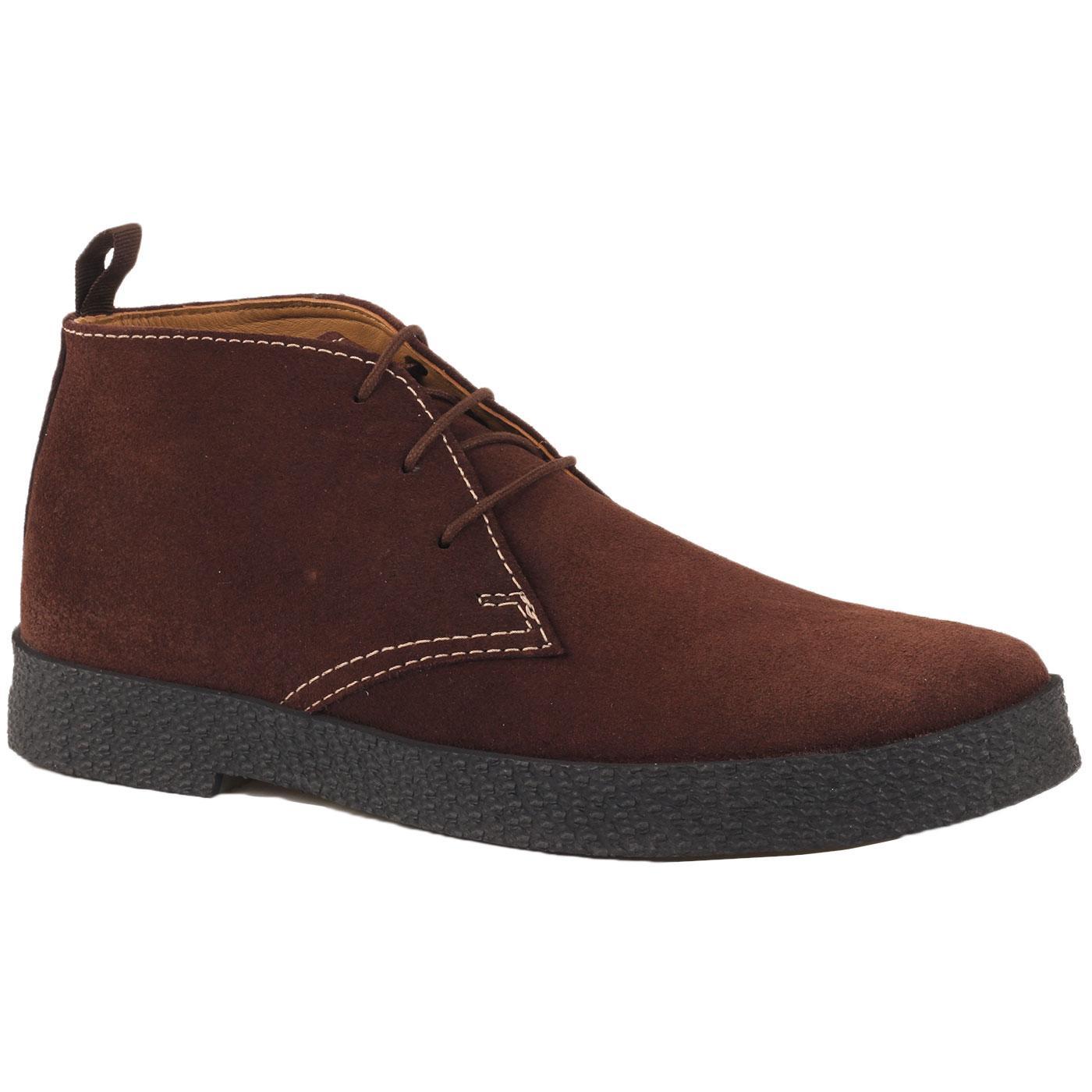 Madcap England Cisco 60s Mod Suede Playboy Chukka Boots in Dark Brown