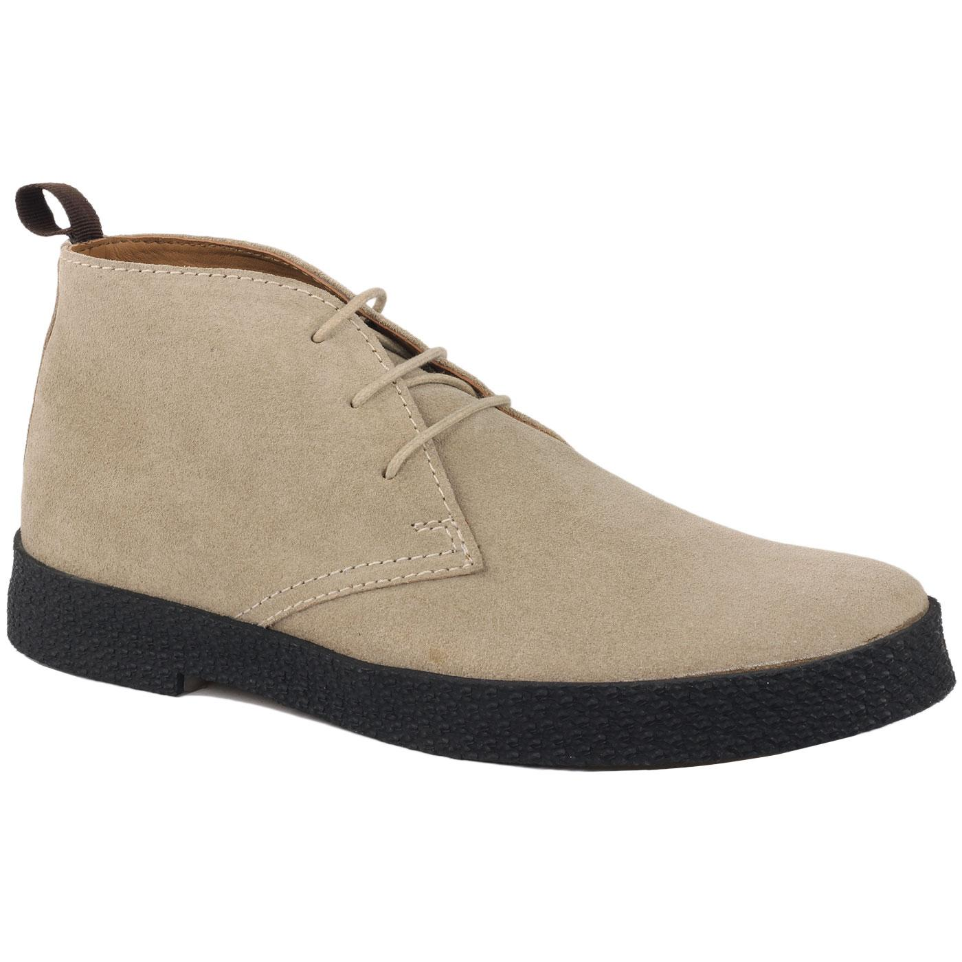 Madcap England Cisco 60s Mod Suede Playboy Chukka Boots in Ice