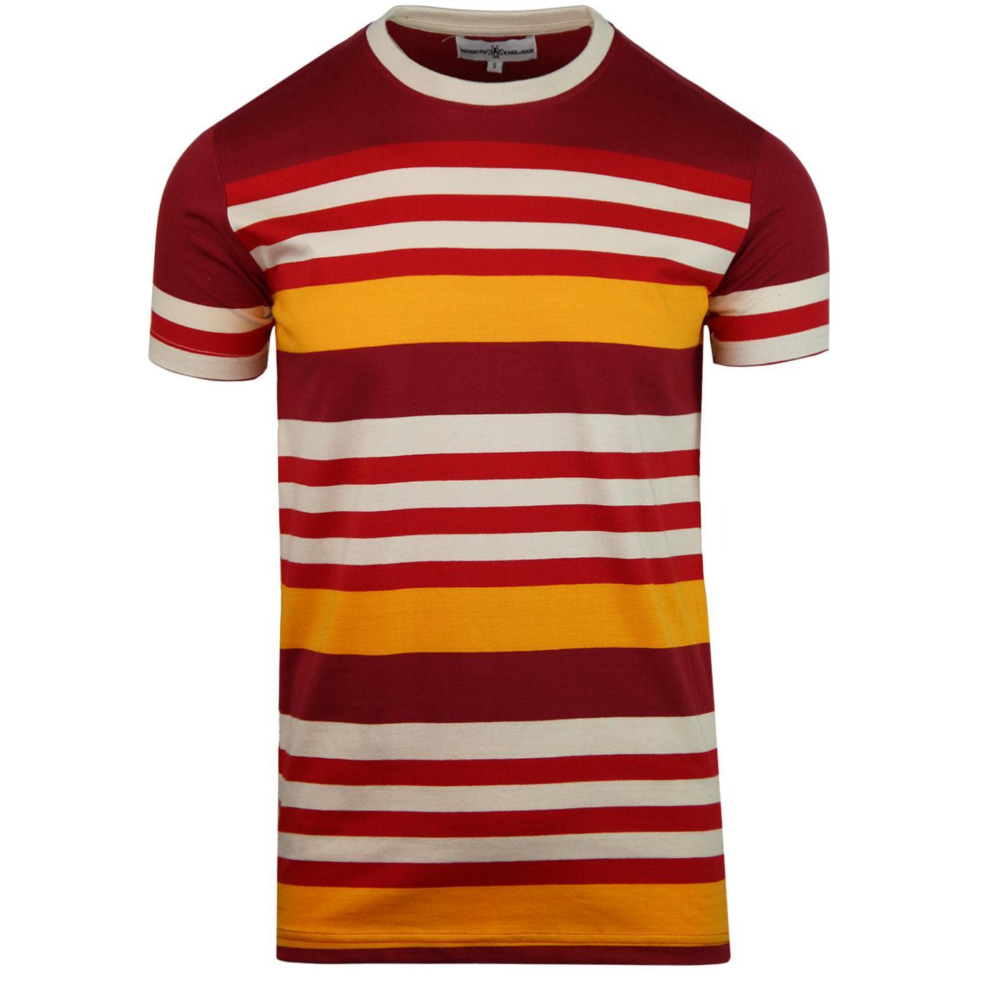 Cosmo MADCAP ENGLAND Retro 70s Stripe T-shirt (R)