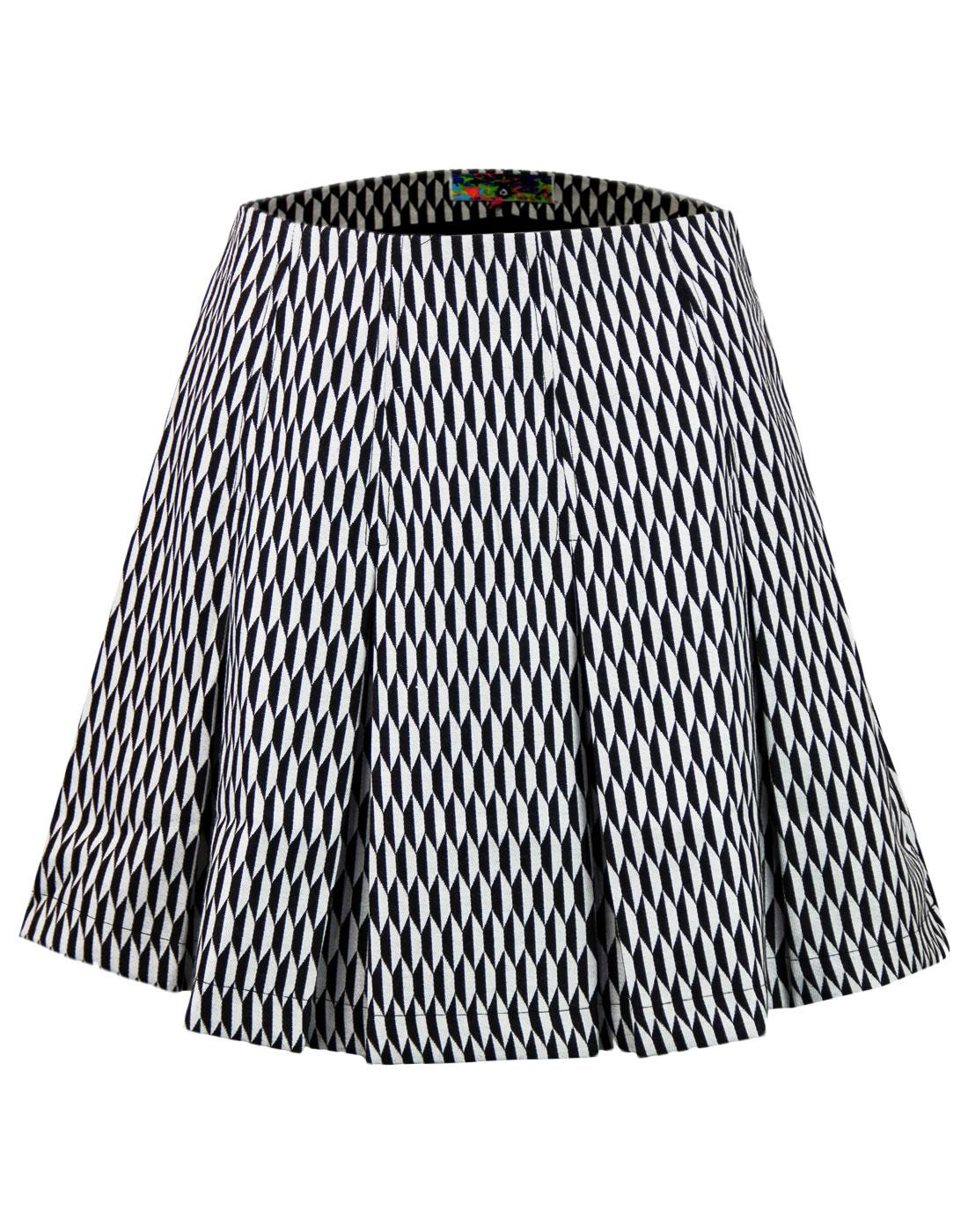 madcap england retro pleated diamond tennis skirt