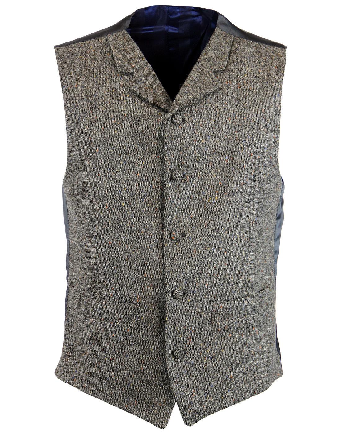 madcap england mod donegal high fasten waistcoat