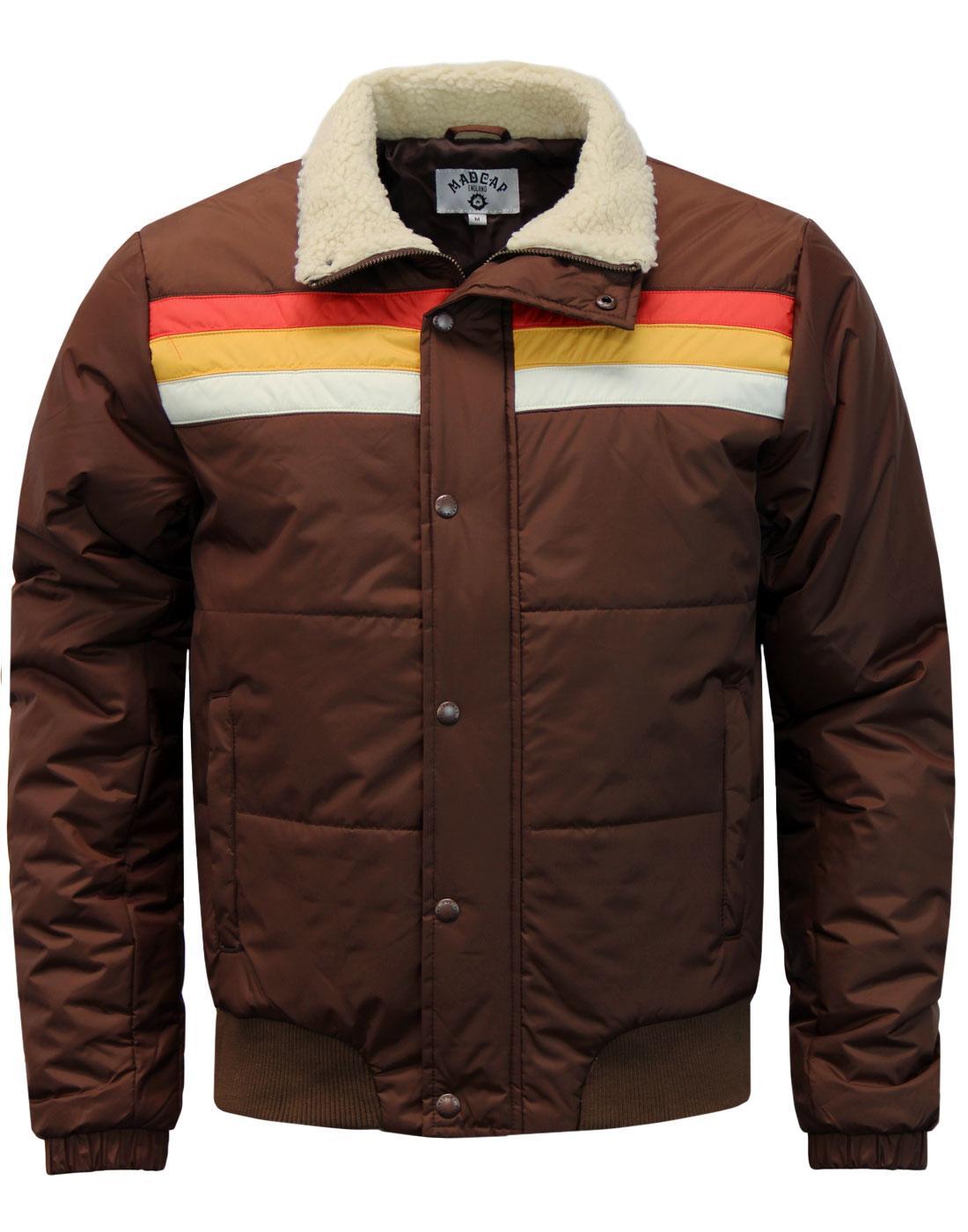 Edge MADCAP ENGLAND Retro 1970s Stripe Ski Jacket