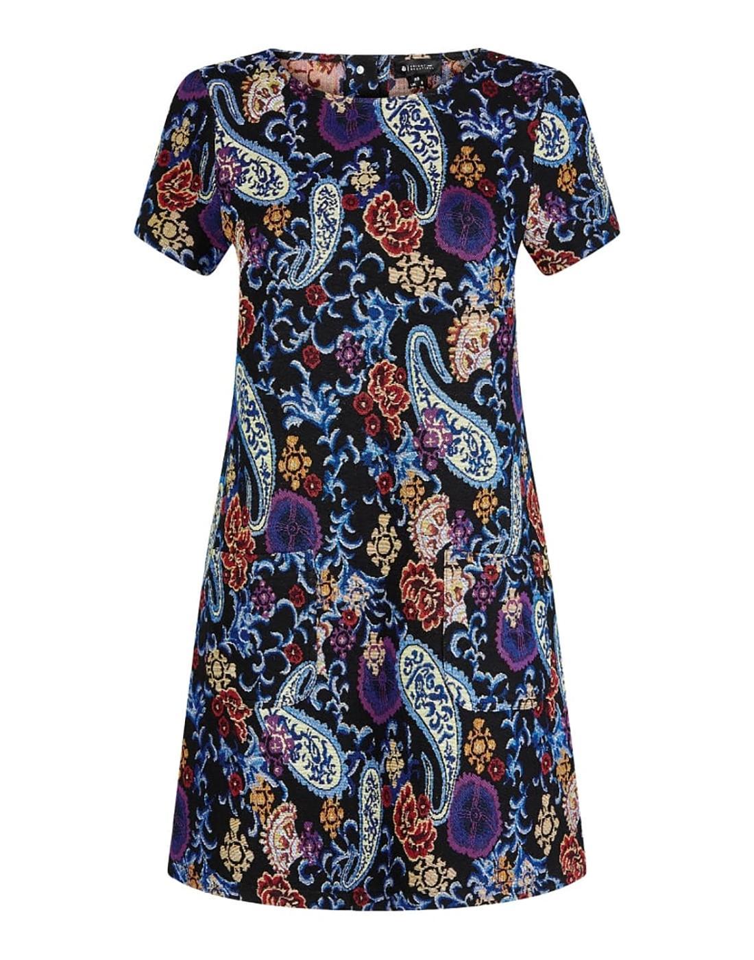 Ella BRIGHT & BEAUTIFUL Retro Paisley Mod Dress