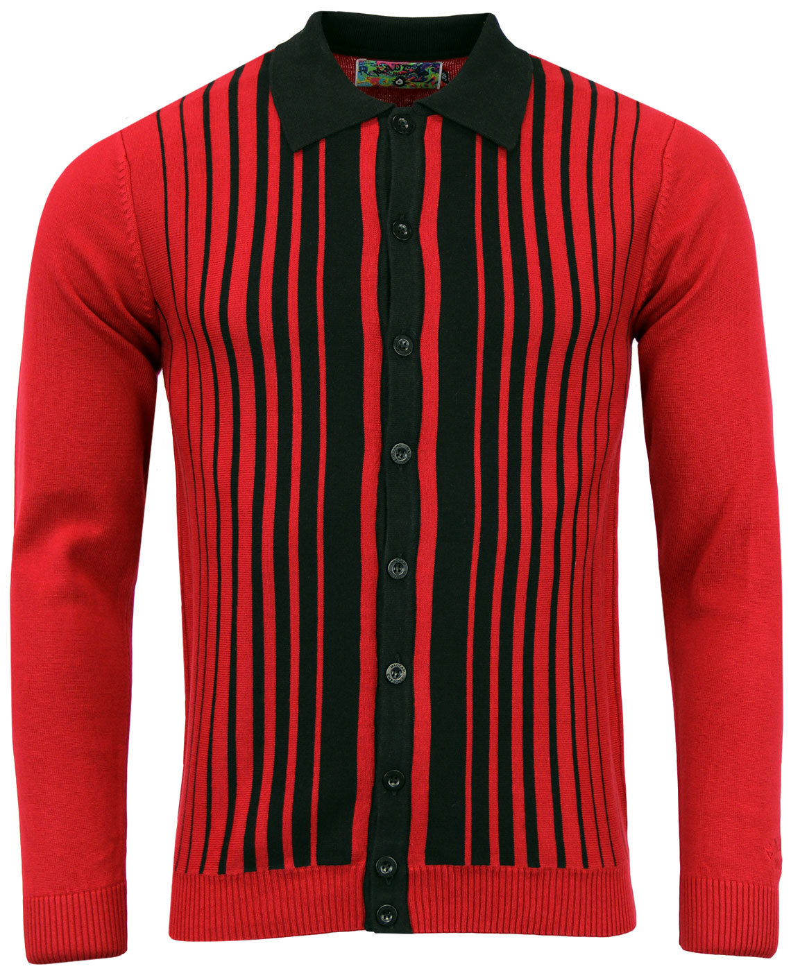 madcap england everly 1960s mod polo cardigan red