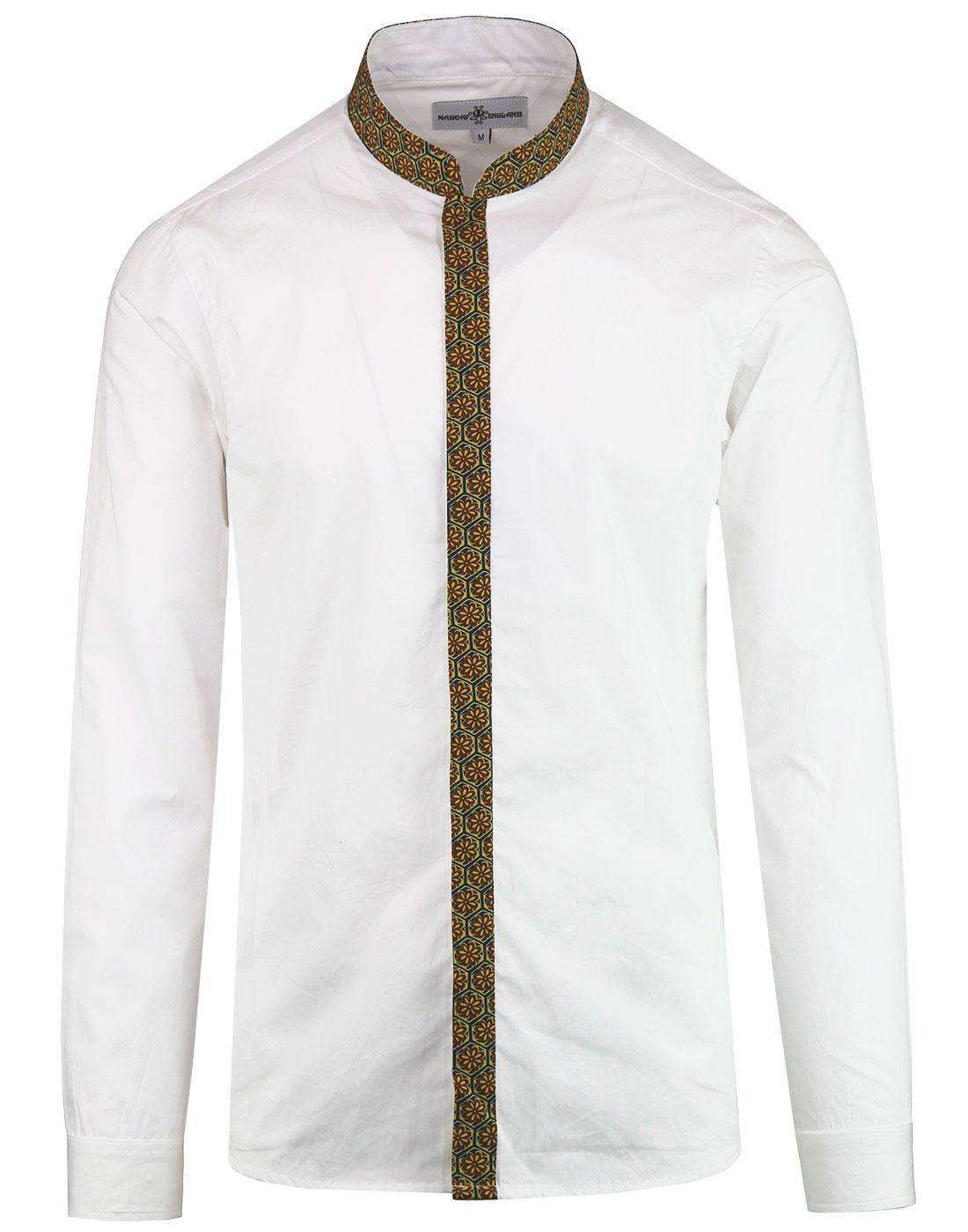 madcap england azimuth floral trim grandad shirt