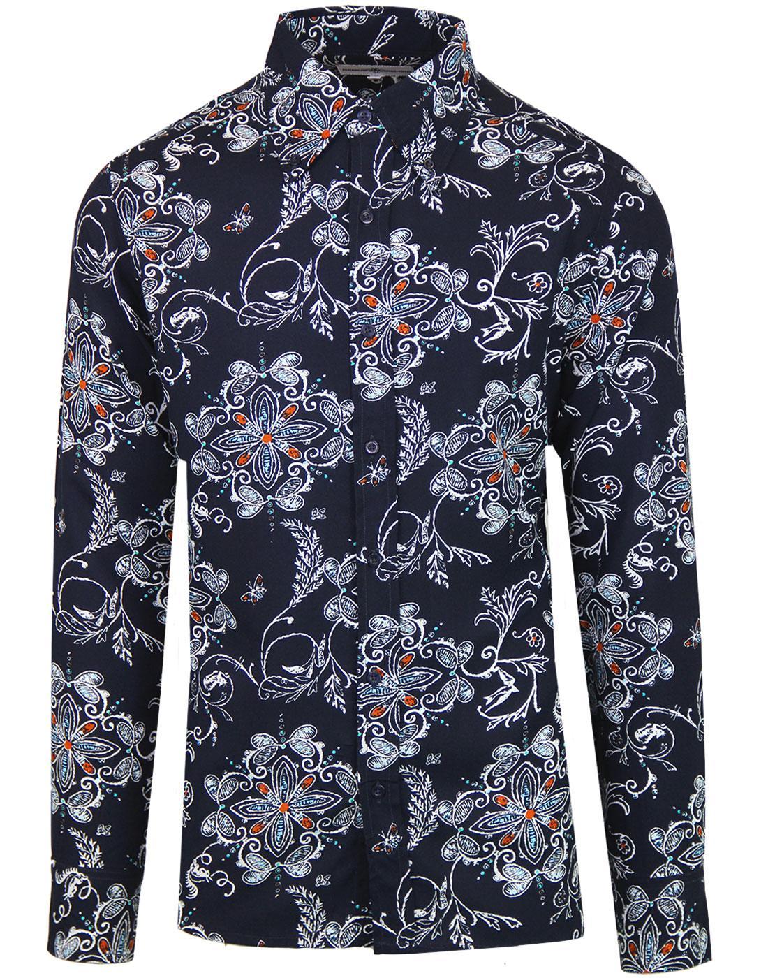 madcap england garageflower mod rayon floral shirt