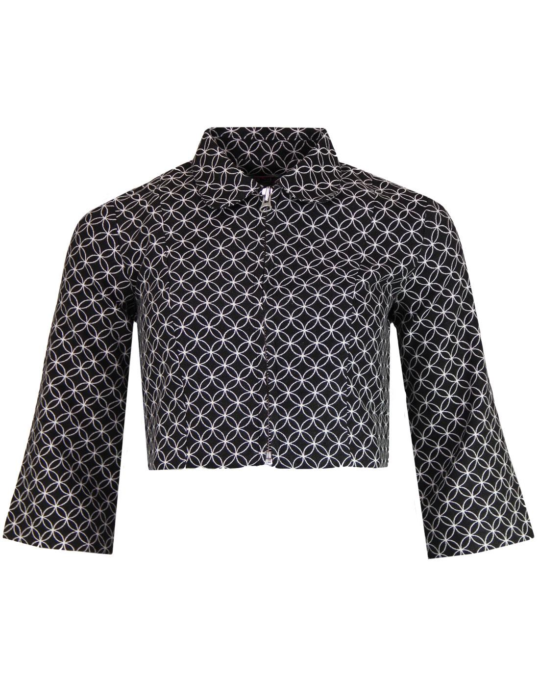 bijoux madcap england 1960s mod geo circle jacket